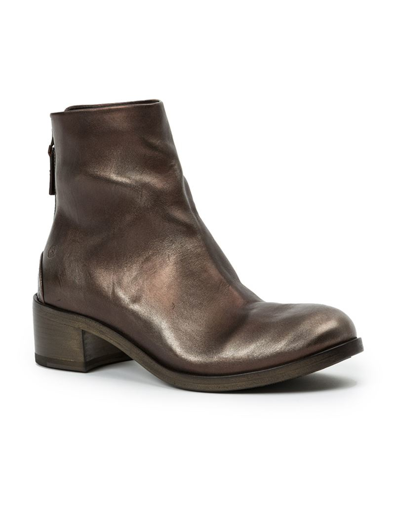 Marsèll Metallic Leather Ankle Boots clearance cheap online collections clearance 2015 new get authentic sale online best wholesale z7obB7