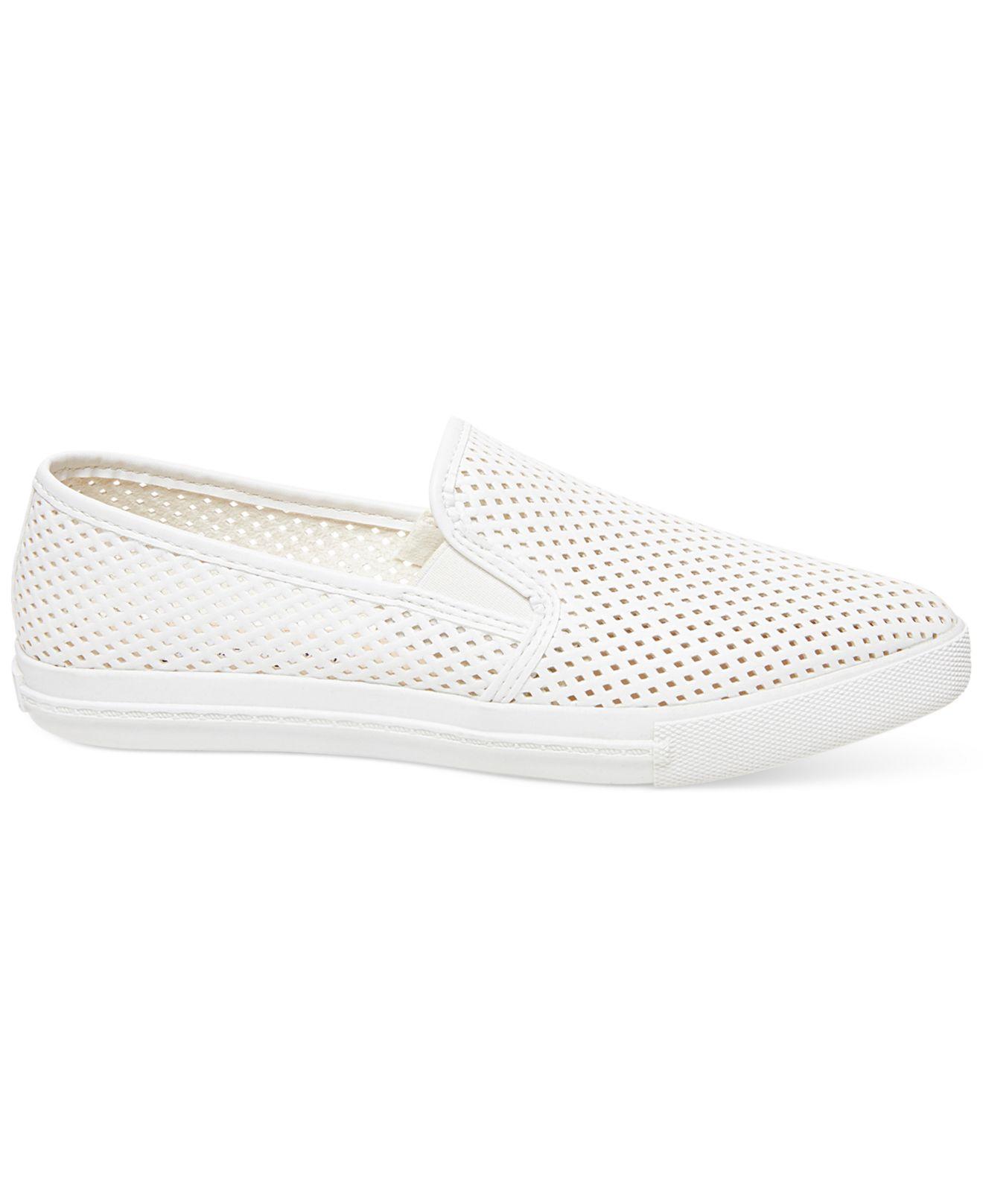 Lyst Steve Madden Women S Virggo Slip On Sneakers In White
