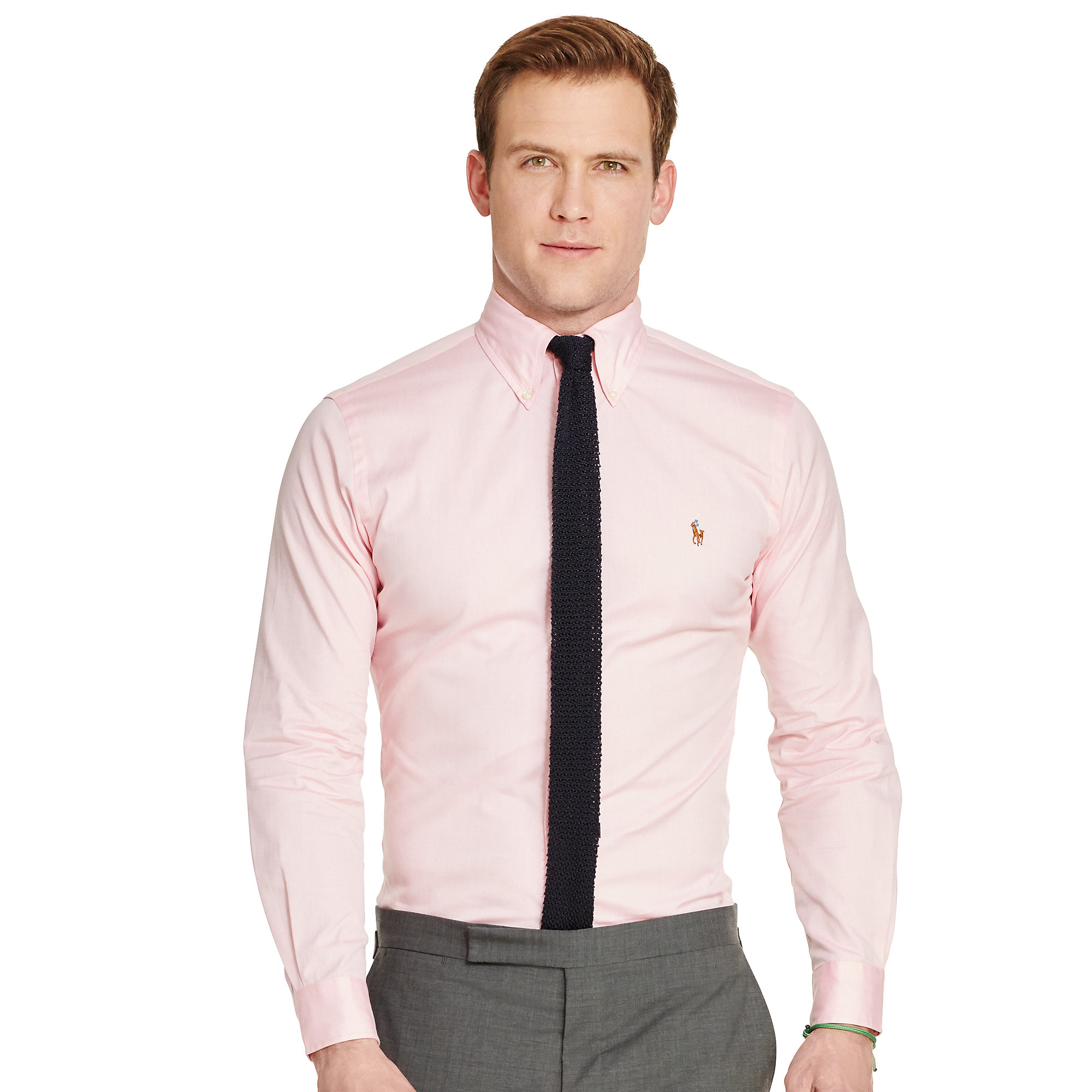 Polo ralph lauren Cotton Oxford Dress Shirt in Pink for Men | Lyst