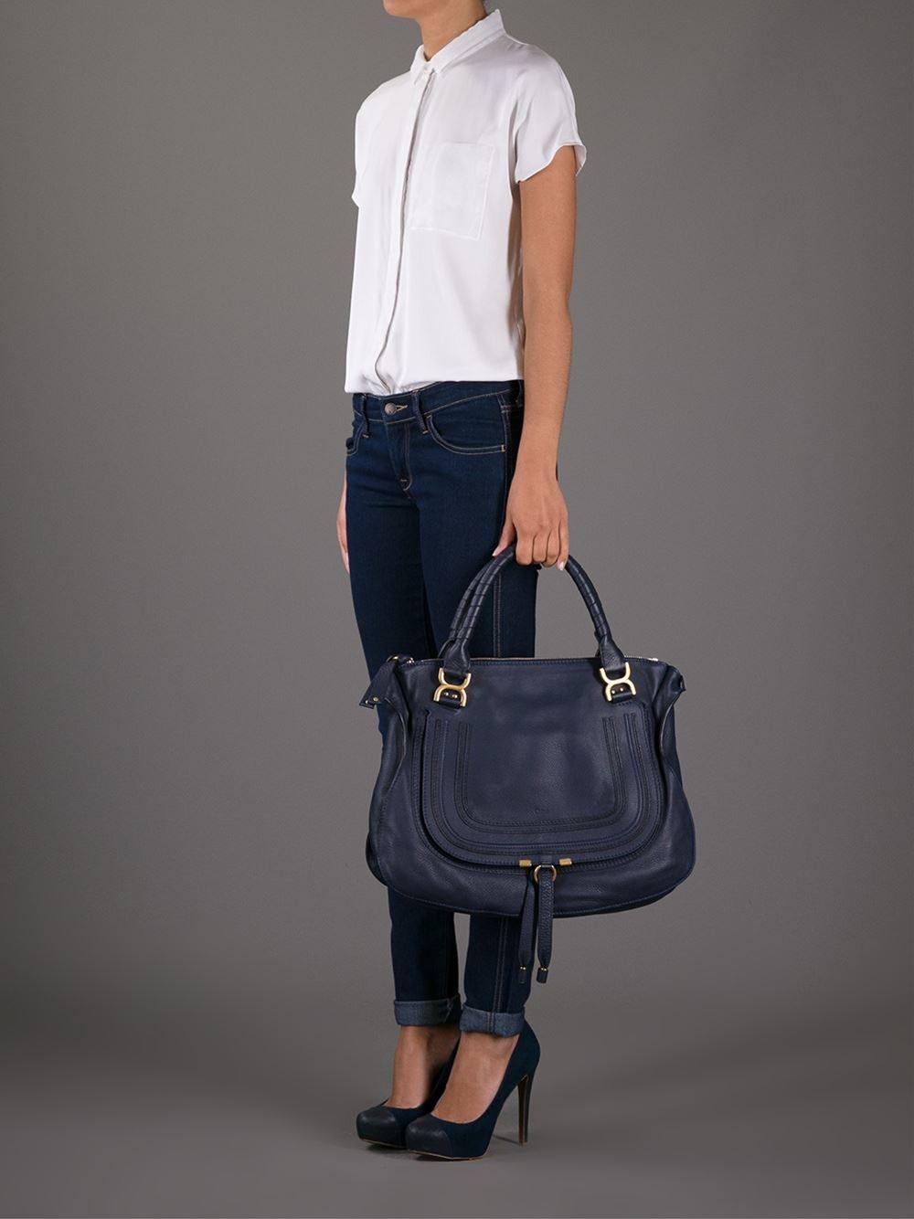 Lyst Chlo 233 Marcie Tote Bag In Blue