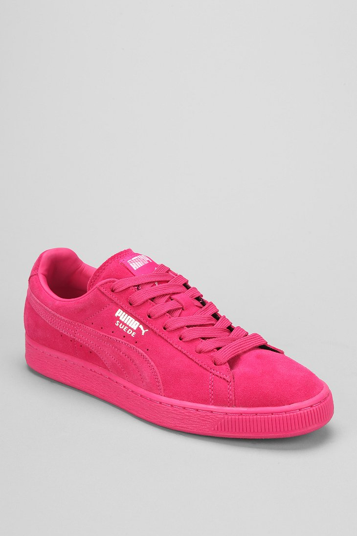 lyst puma classic mono suede sneaker in pink for men. Black Bedroom Furniture Sets. Home Design Ideas