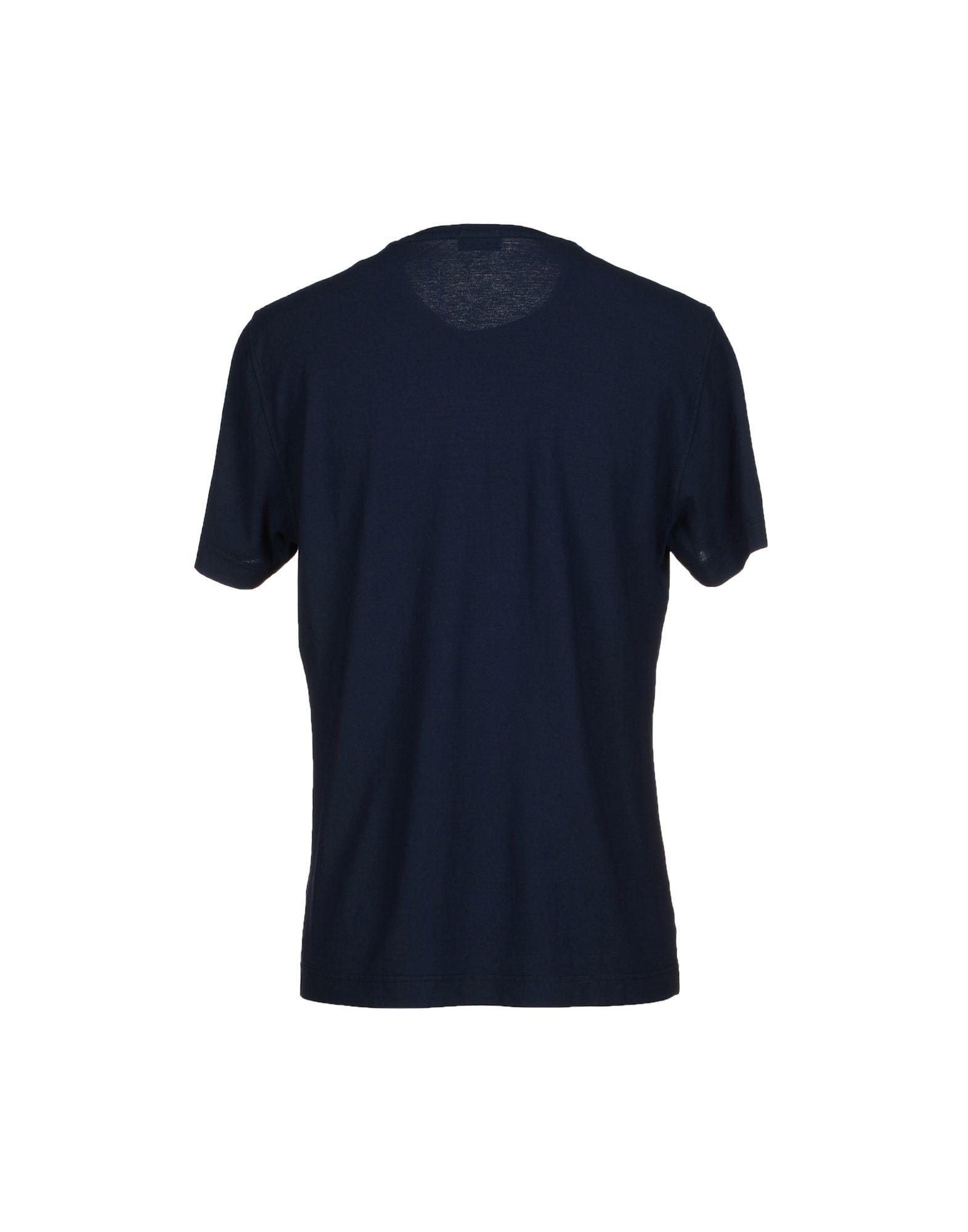 Drumohr t shirt in blue for men dark blue lyst for T shirt dark blue