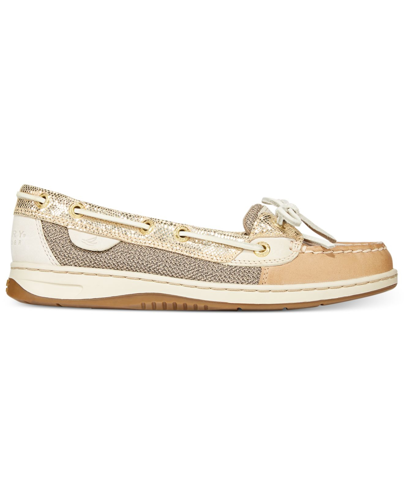 826275fc596b Lyst - Sperry Top-Sider Women s Angelfish Metallic Boat Shoes in ...