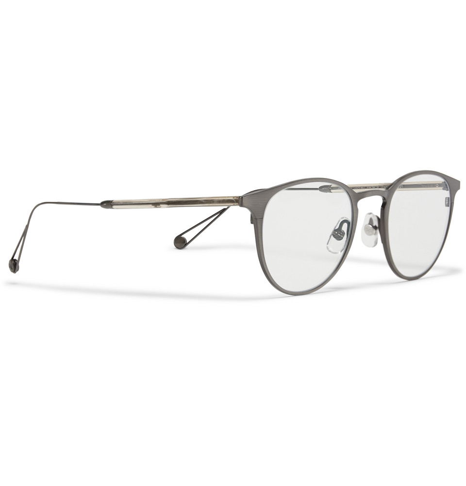 3c7e56e713a Garrett Leight Round-Frame Acetate And Titanium Sunglasses in ...