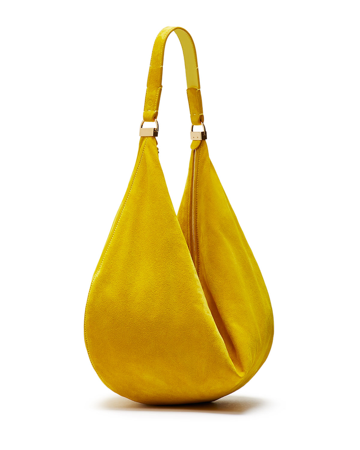 The row Sling 12 Suede Hobo Bag in Yellow | Lyst