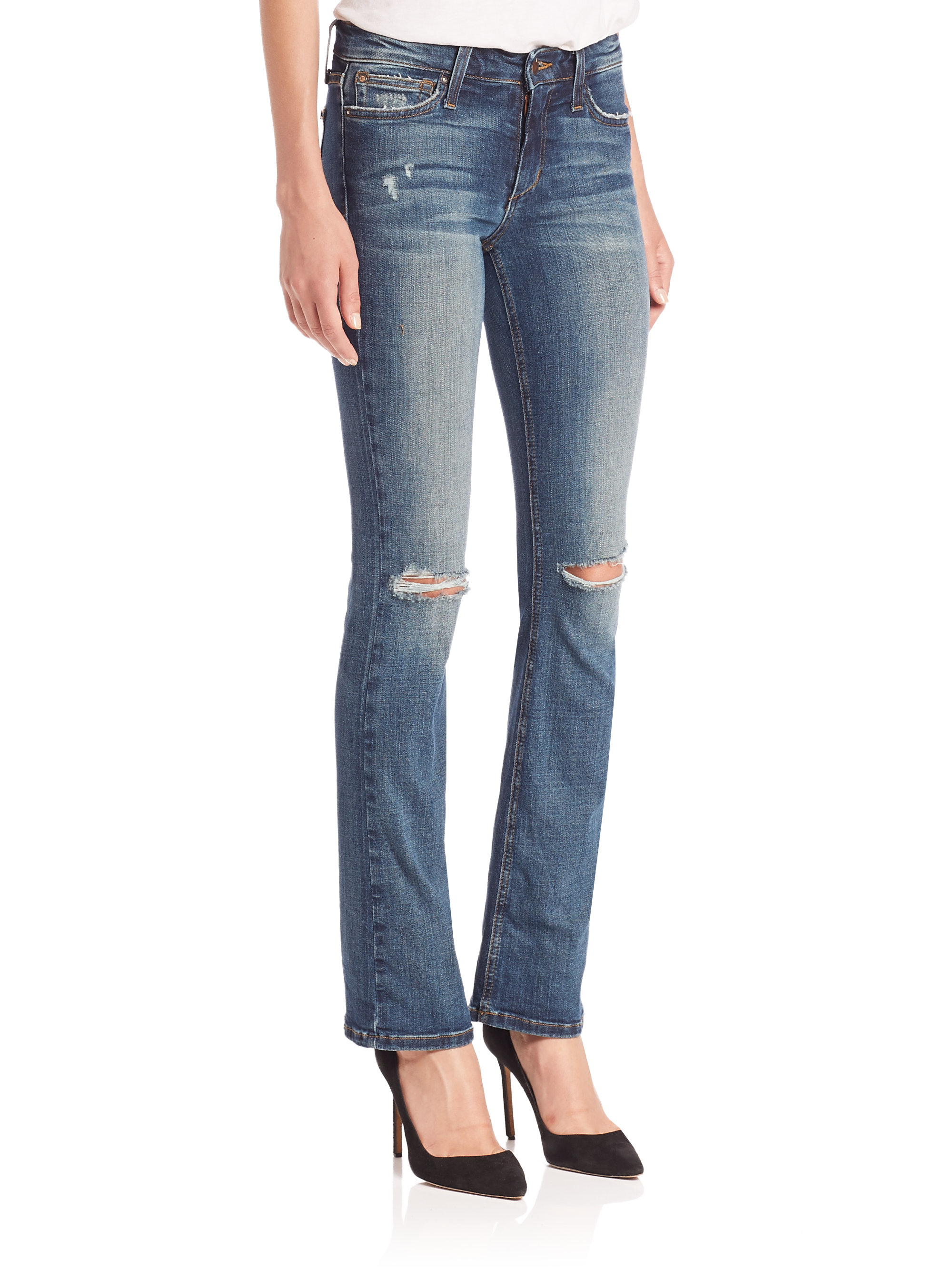 Joe's jeans Kalia Provocateur Distressed Petite Bootcut Jeans in ...