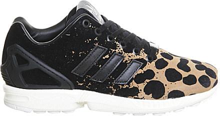 76192c00c087 ... switzerland adidas zx flux leopard print trainers in black lyst 8cbb8  e6e51