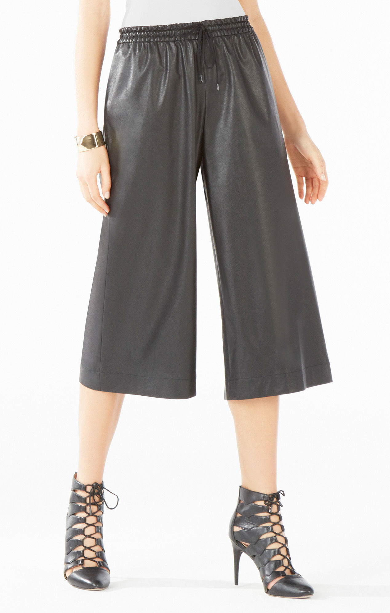 chloe bags prices - Bcbgmaxazria Hendrick Faux-leather Culotte in Black - Save 50%   Lyst