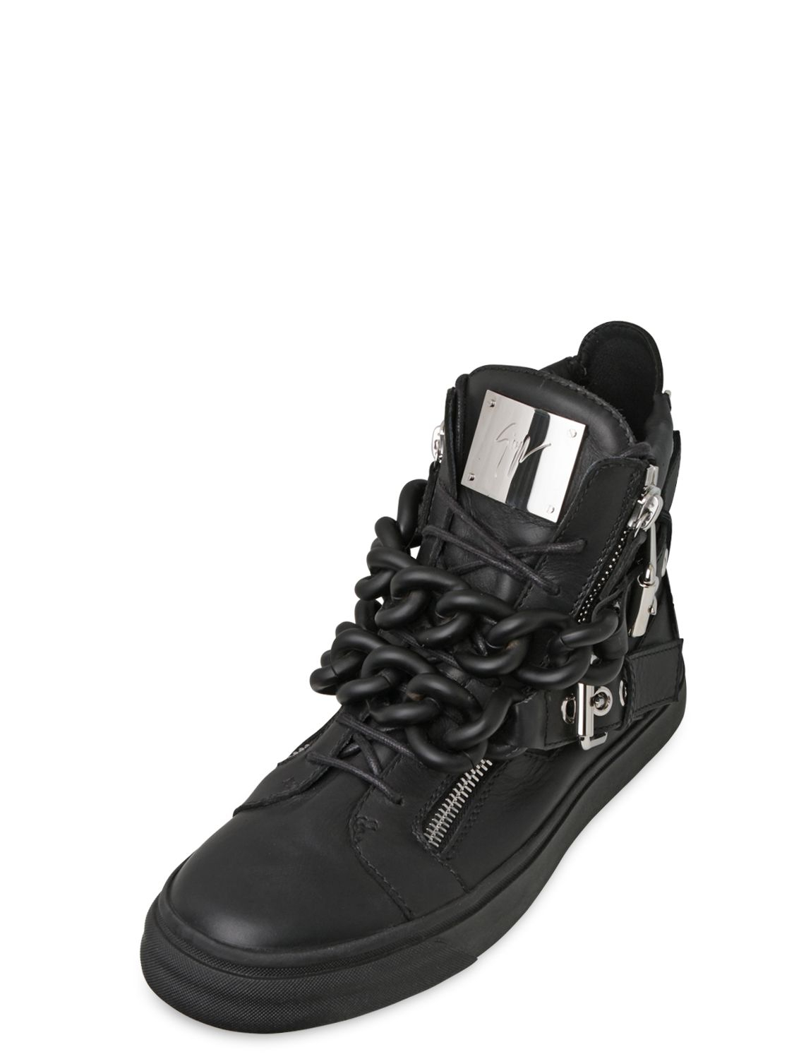 Giuseppe ZanottiDouble Zip Leather High-Top Sneakers qFVkTaD