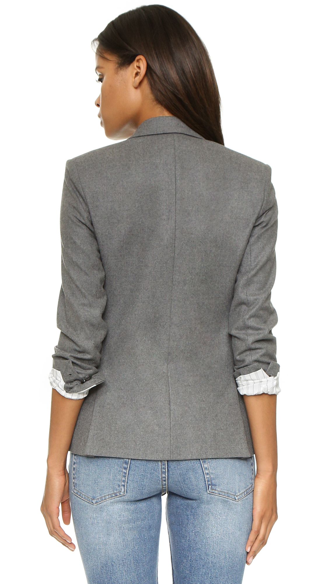 8679628cc71 Theory Pure Flannel Dief Blazer - Medium Grey in Gray - Lyst
