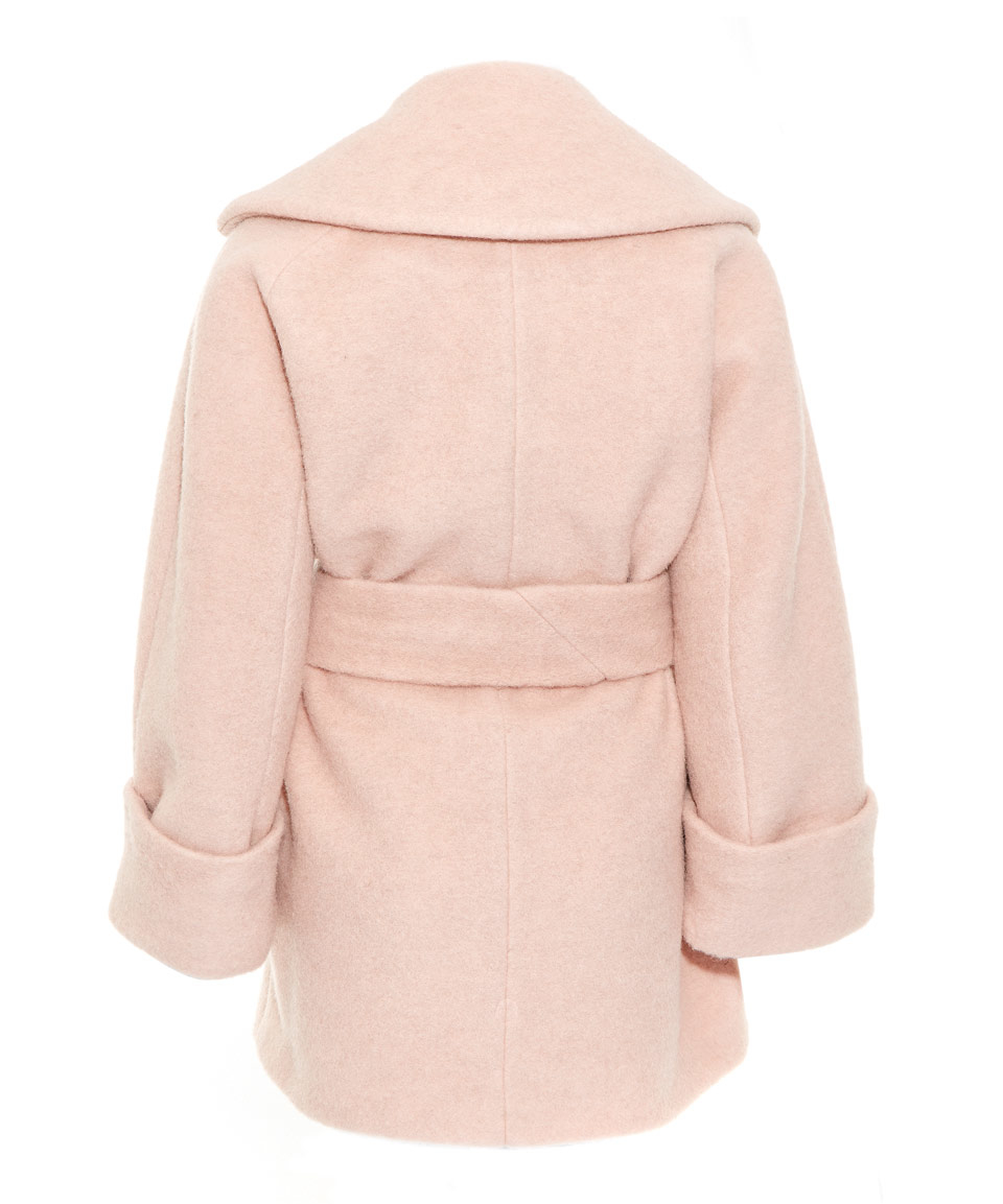 Carven Pink Oversize Asymmetric Wool-blend Coat in Pink | Lyst