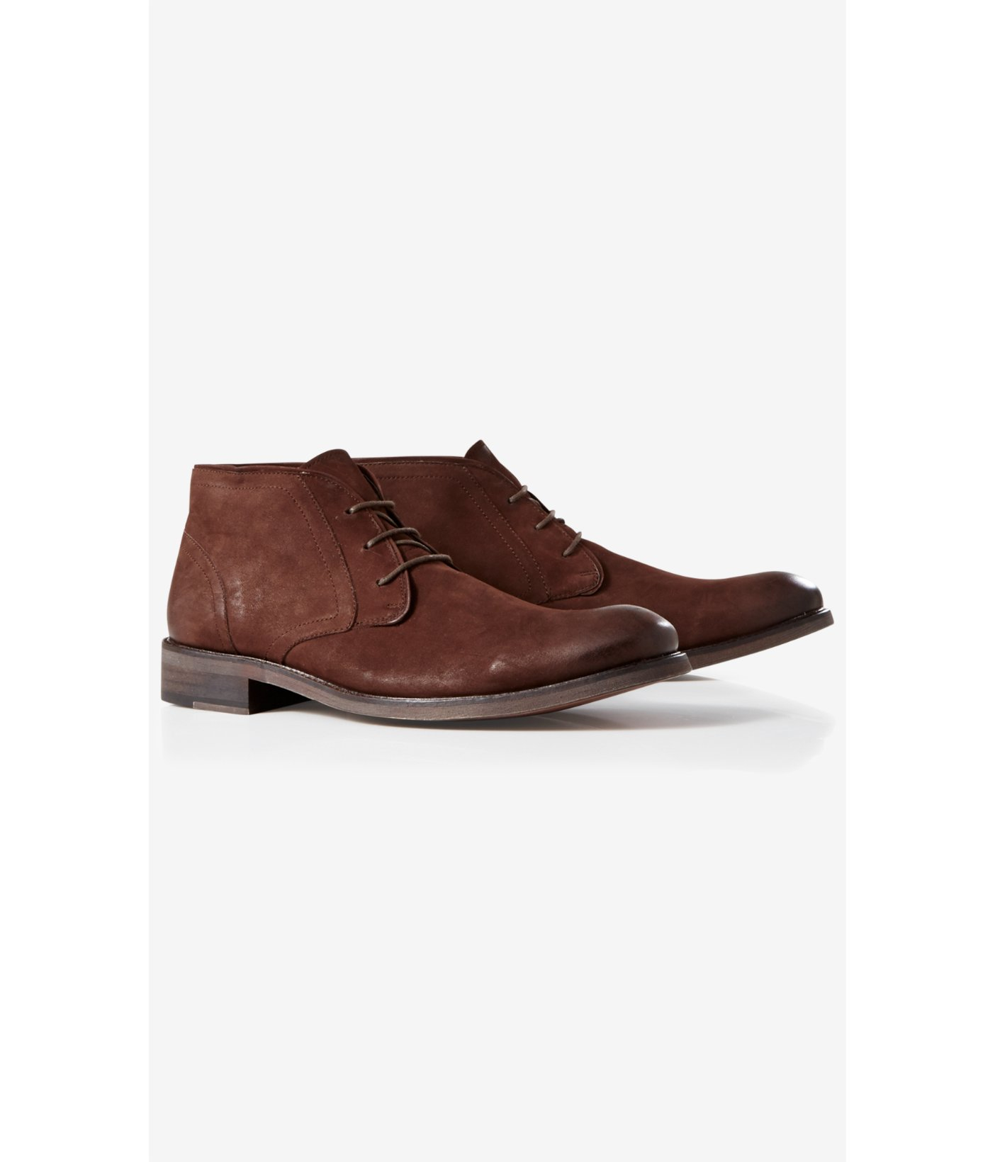 express brown suede chukka boot in brown for lyst
