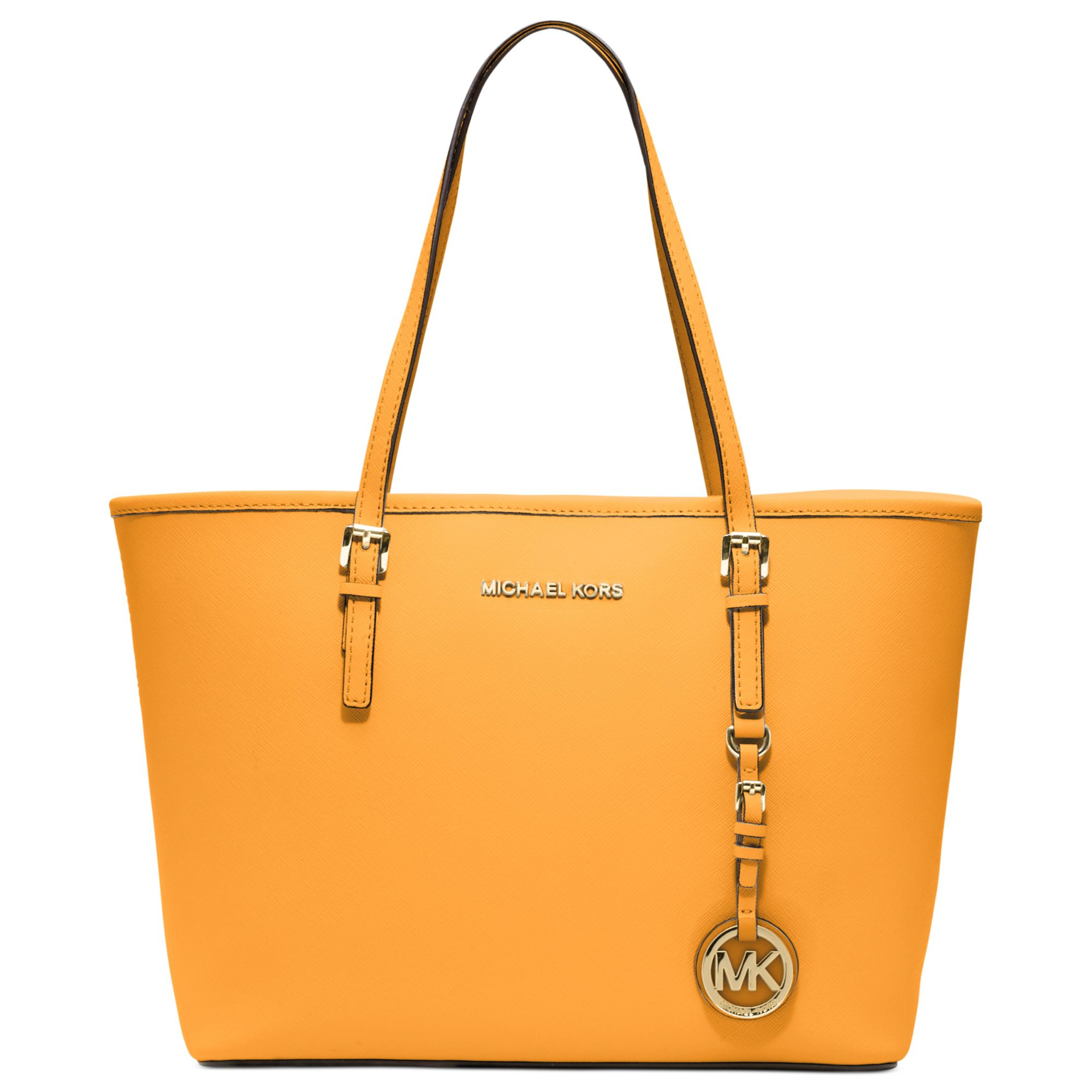 3be08fc763a2 Michael by Michael Kors Bedford Large Shoulder Tote Lyst - Michael Kors  Michael Jet Set Travel Small Tote in Ora ...