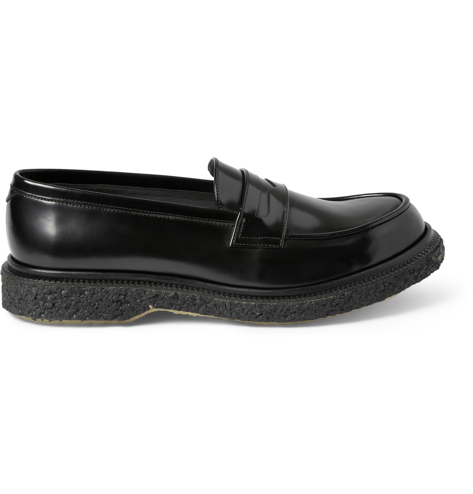 704d96e809e Lyst - Adieu Type 5 Crepe-Sole Leather Penny Loafers in Black for Men