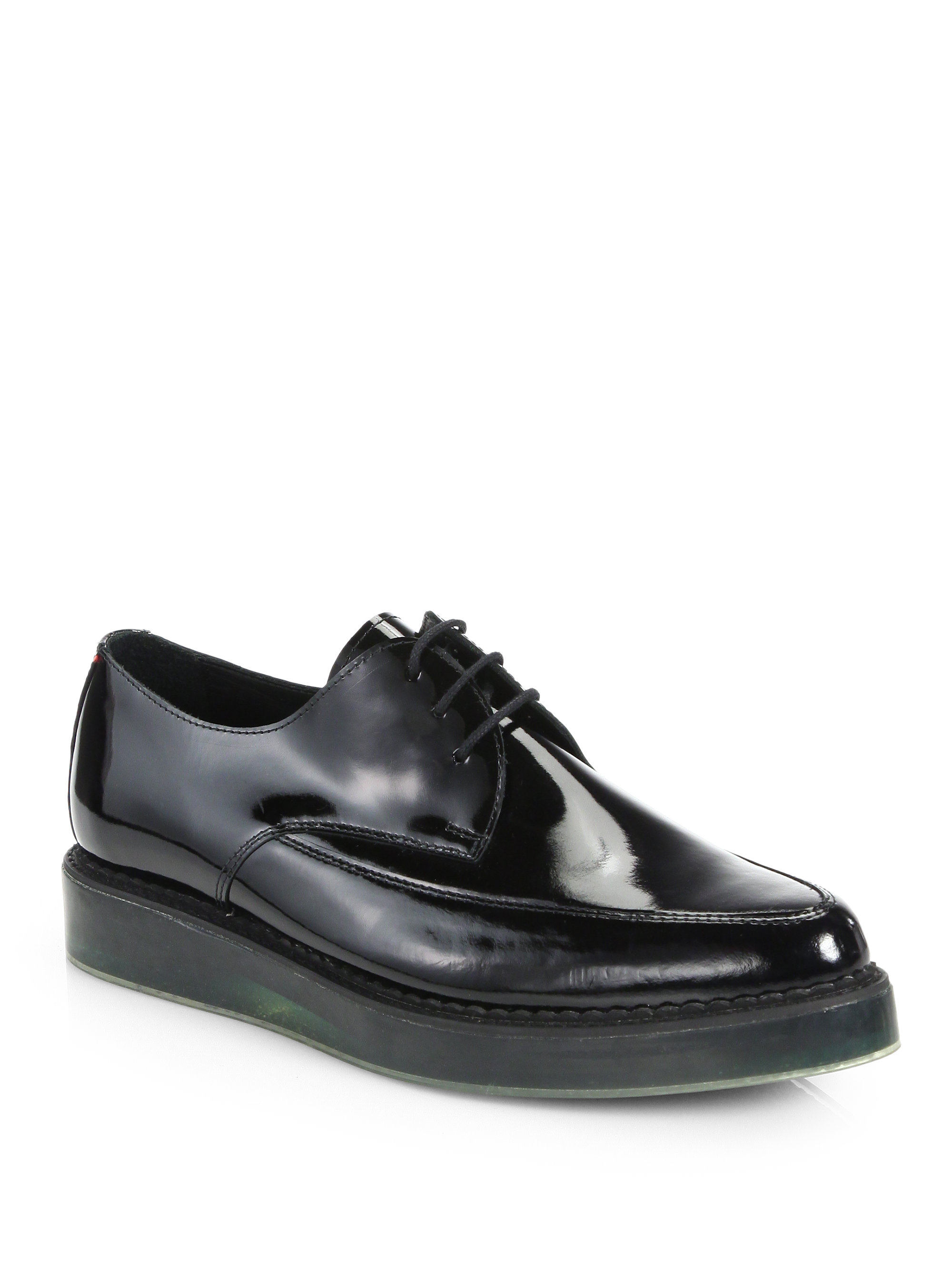 Diesel Black Leather & Nylon Brogues PCFivAx0Do