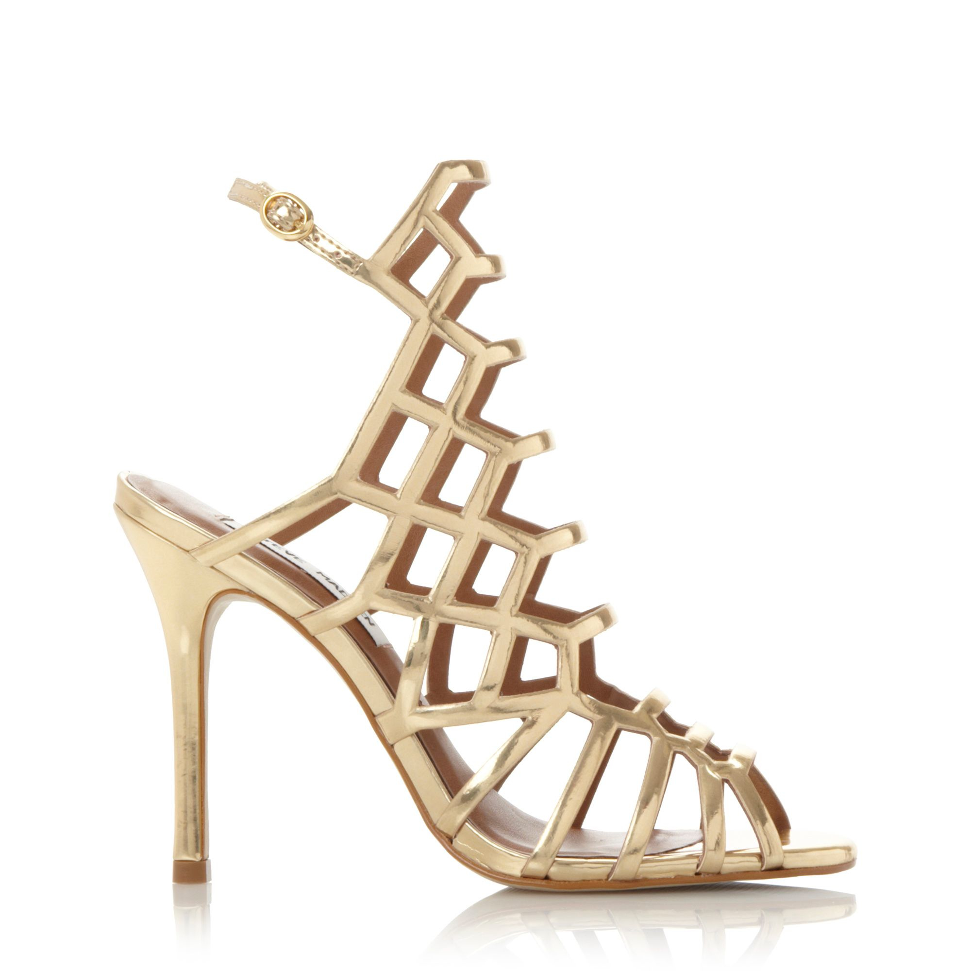Gold Caged Heels - Is Heel