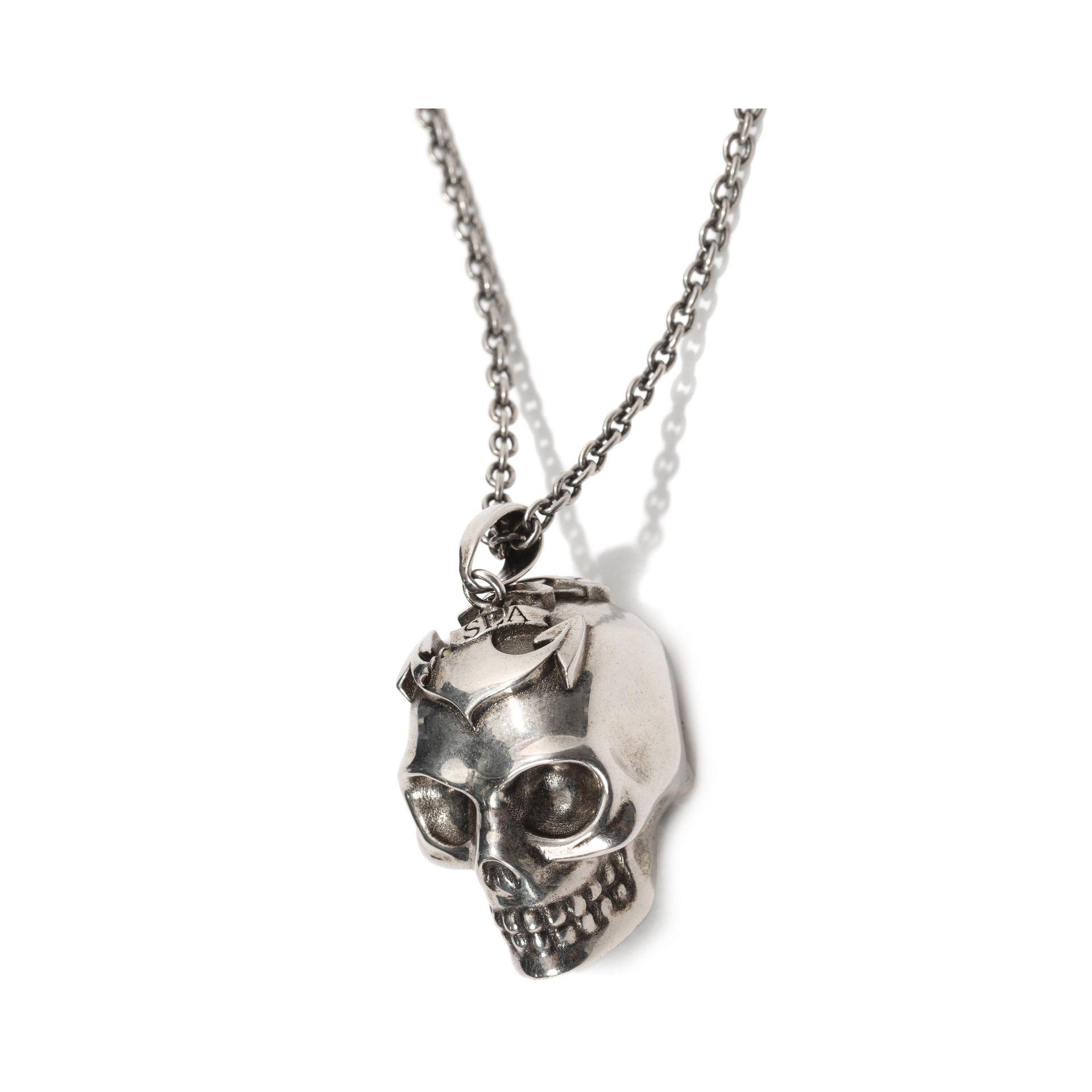 21fbb596d8df4c Lyst Alexander Mcqueen Star And Skull Pendant In Metallic For Men