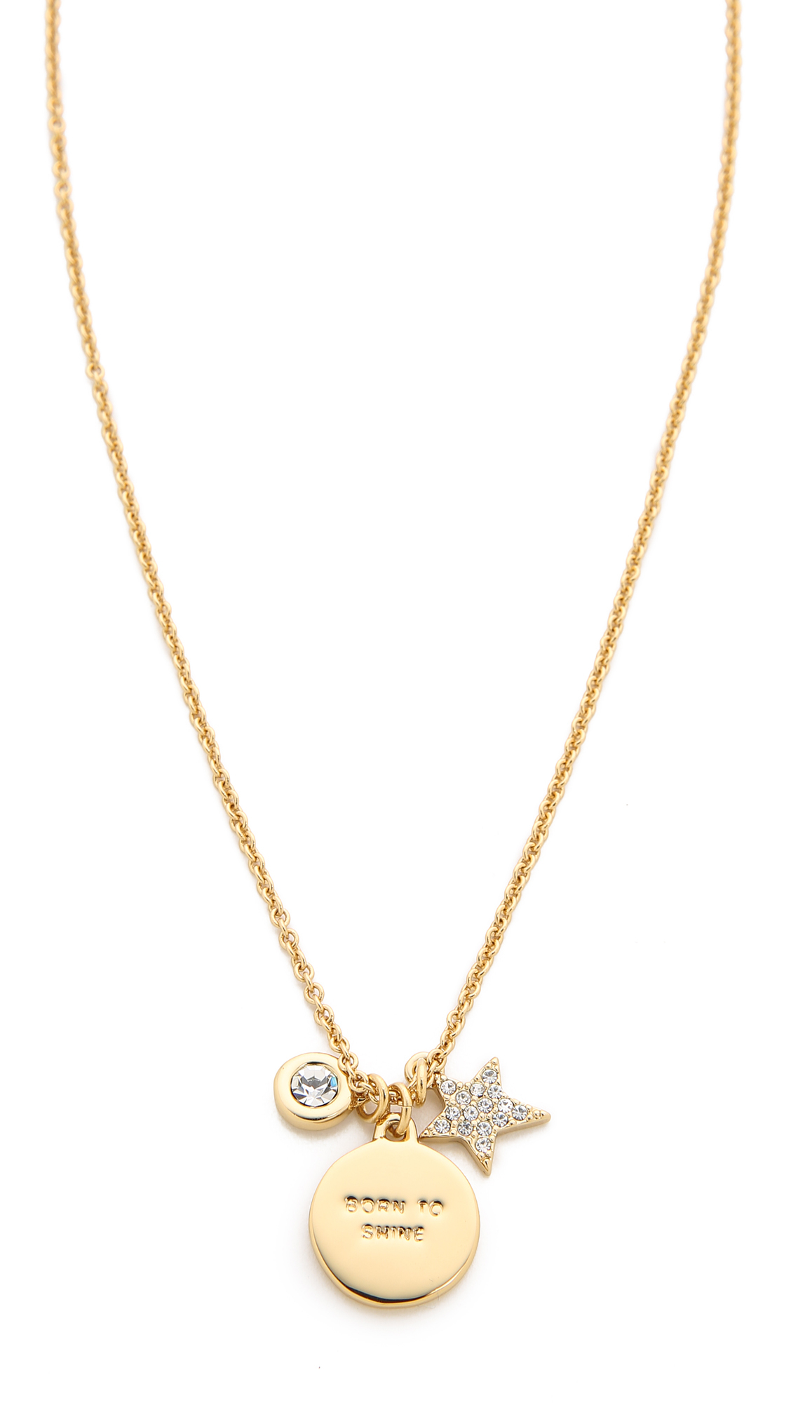 kate spade new york star born to shine charm necklace in. Black Bedroom Furniture Sets. Home Design Ideas