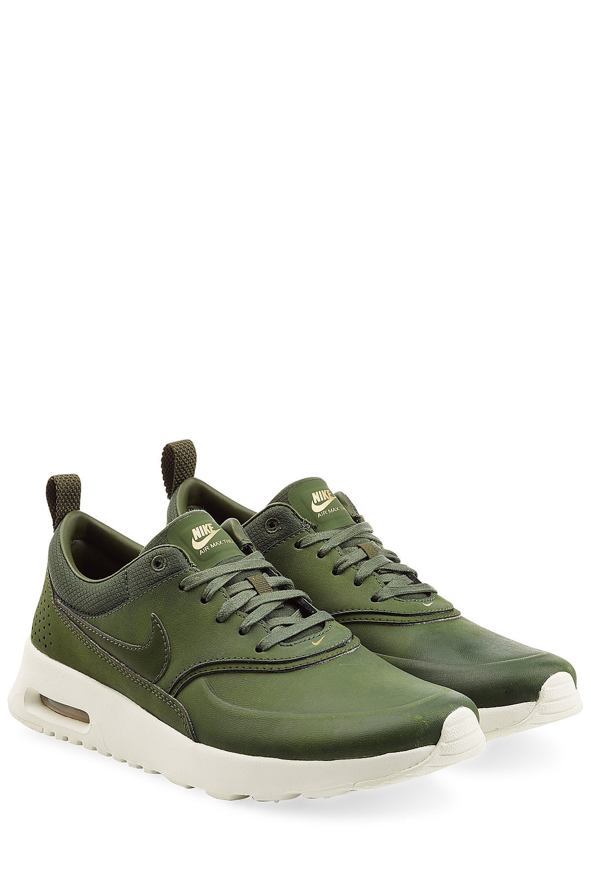 nike air max thea premium leather sneakers green in. Black Bedroom Furniture Sets. Home Design Ideas