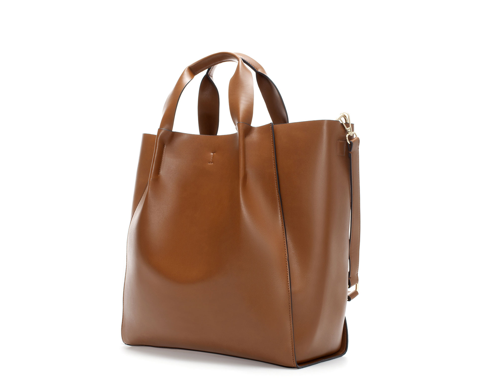 Zara Shopper Bag in Brown | Lyst