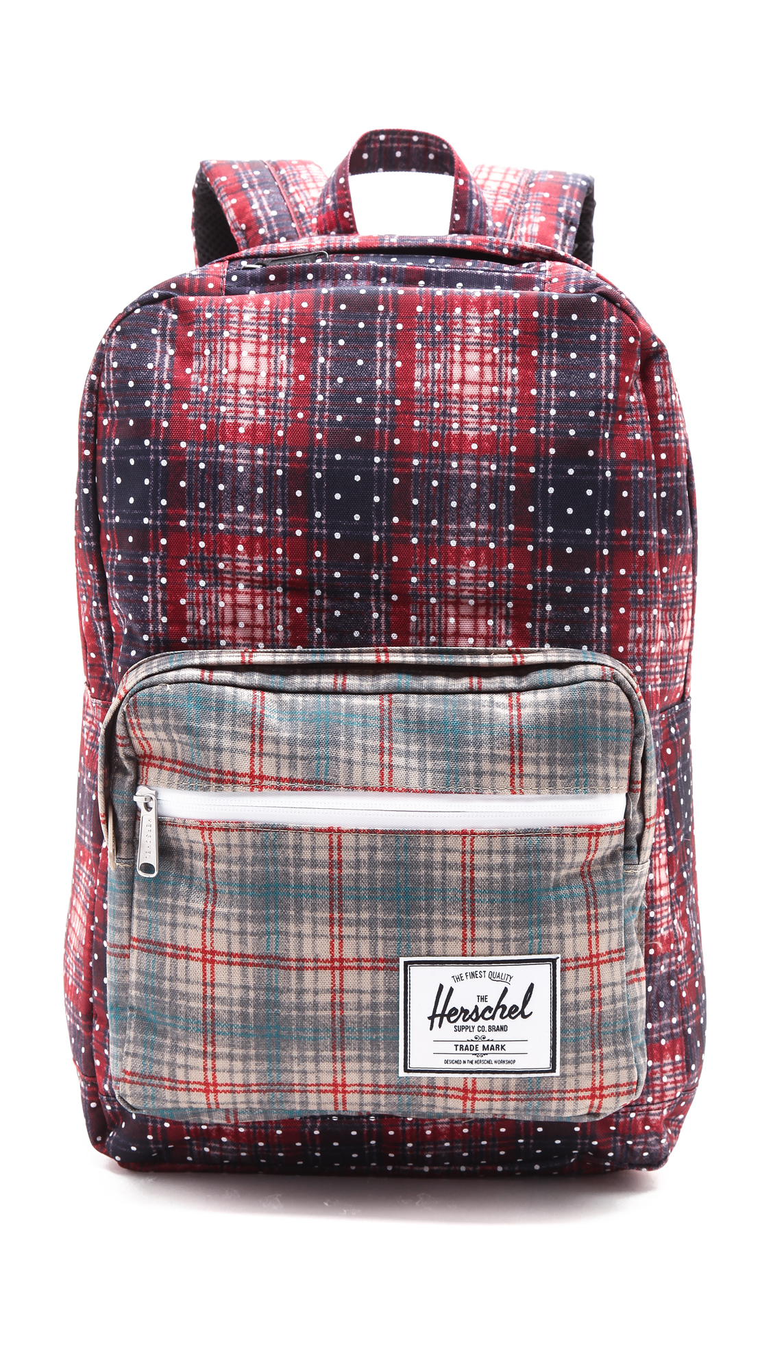 Herschel Supply Co. Pop Quiz Backpack - Rust Plaid in Pink - Lyst ac7e080107
