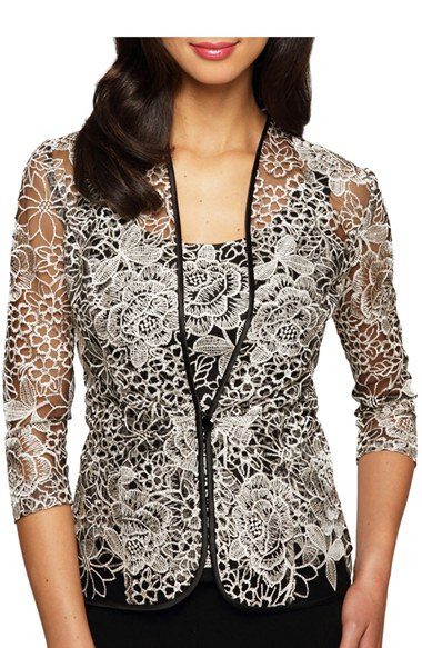 Lyst Alex Evenings Floral Embroidered Top And Jacket In
