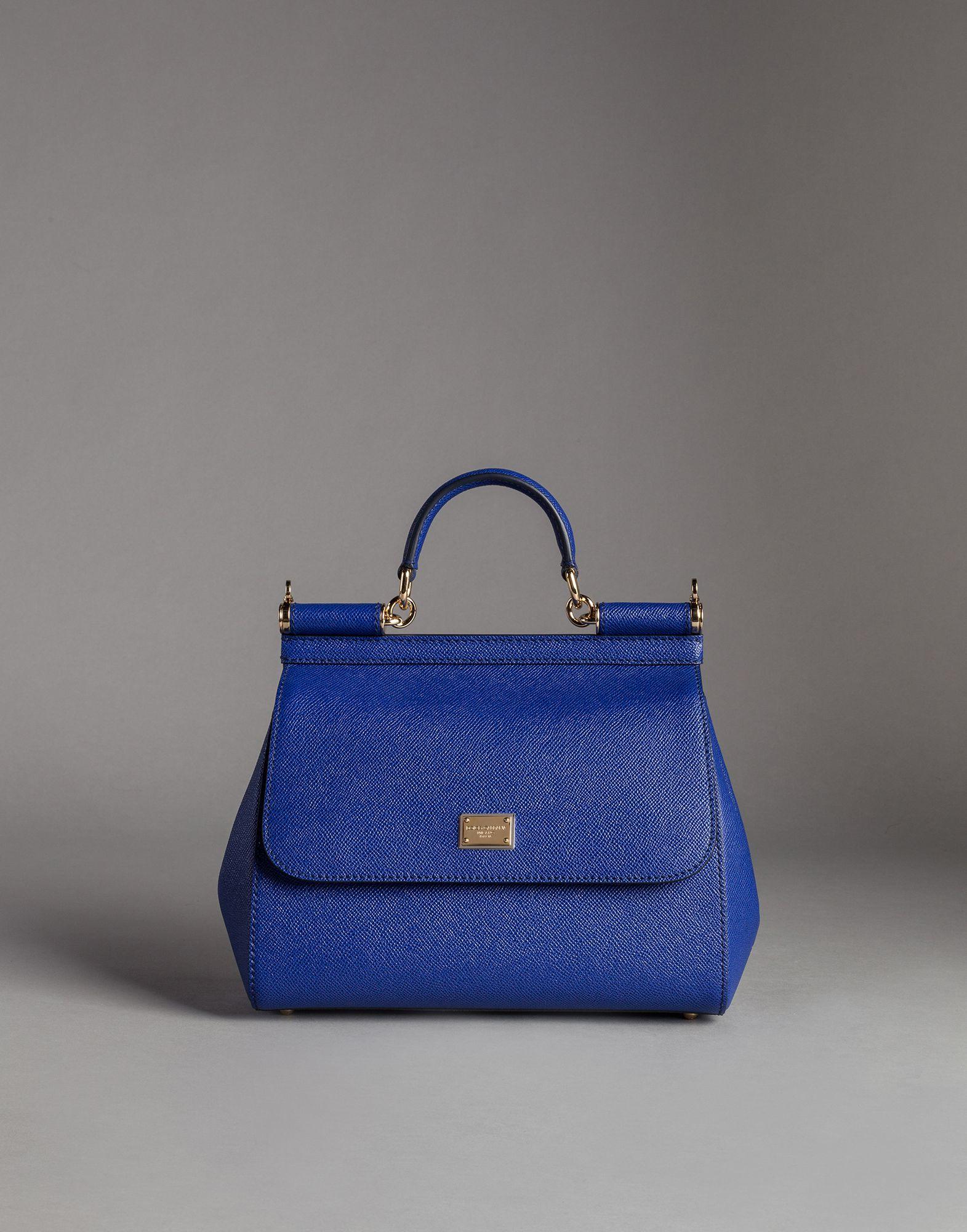 bec083fd87a Dolce & Gabbana Medium Dauphine Calfskin Sicily Bag in Blue - Lyst