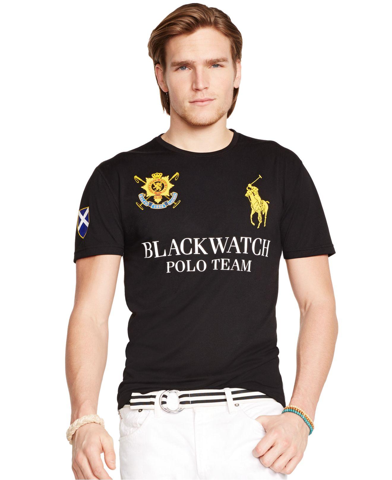 lyst polo ralph lauren black watch performance jersey. Black Bedroom Furniture Sets. Home Design Ideas