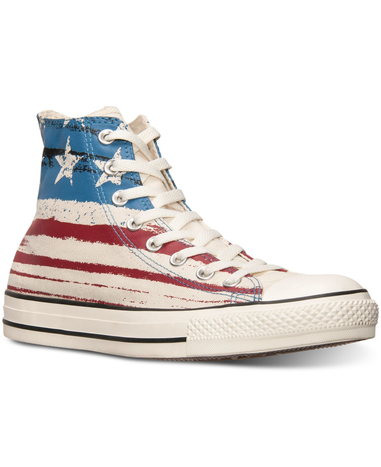 Lyst - Converse Men s Chuck Taylor High Usa Flag Print Casual ... 9db170357
