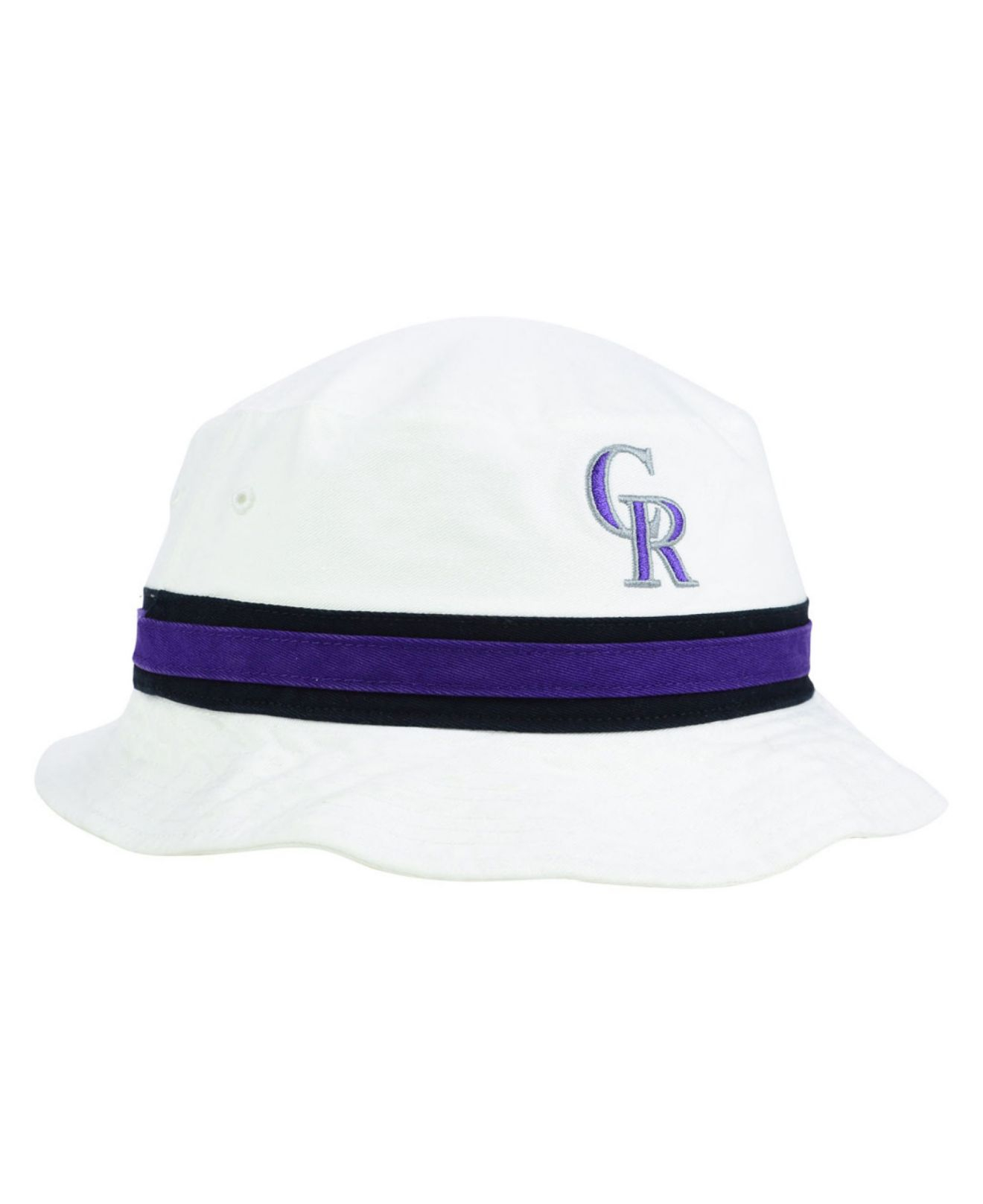 timeless design 2b5ad 9fac4 ... spain lyst 47 brand colorado rockies striped bucket hat in white fa88e  58d28