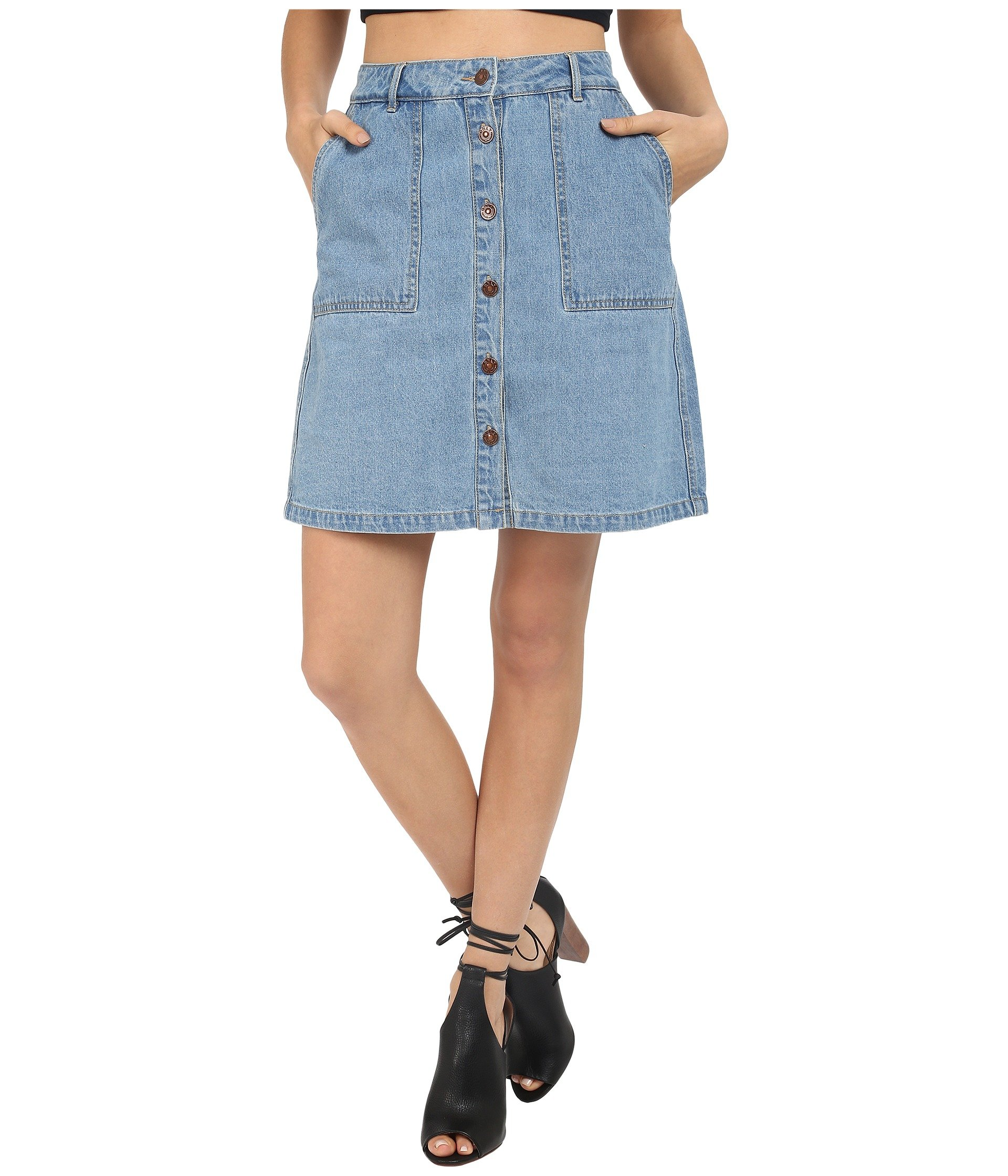 premium selection buy popular free delivery ONLY Blue New Farrah A-line Denim Skirt