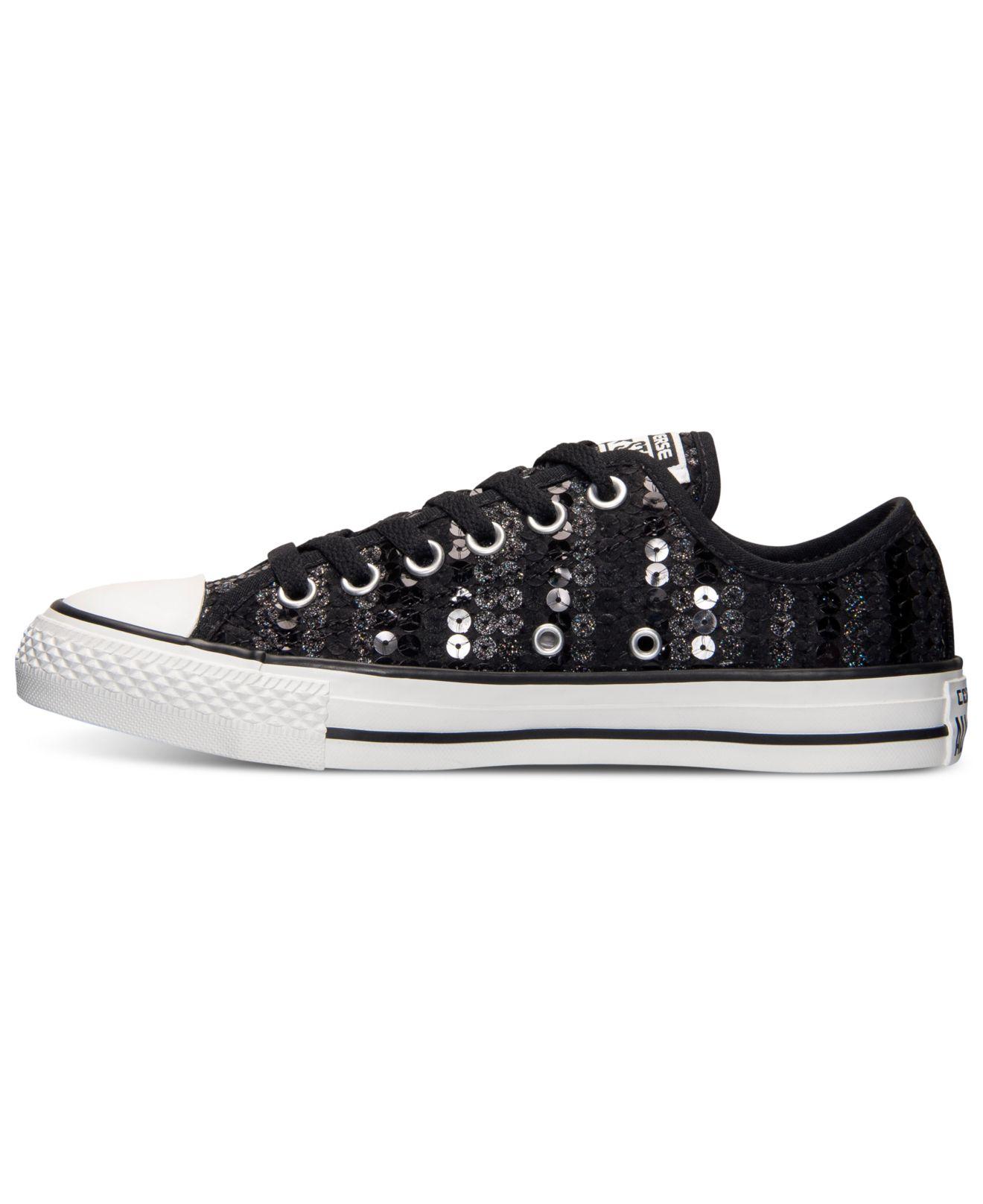 black sequin converse sneakers