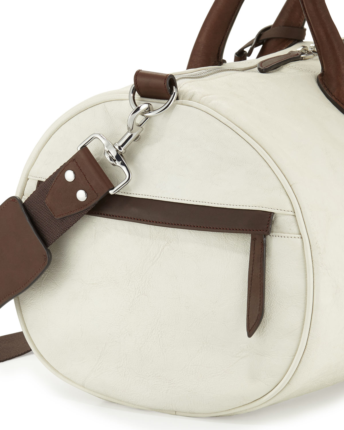 07e84f5d49 Lyst - Cole Haan Two-tone Leather Duffle Bag in White for Men