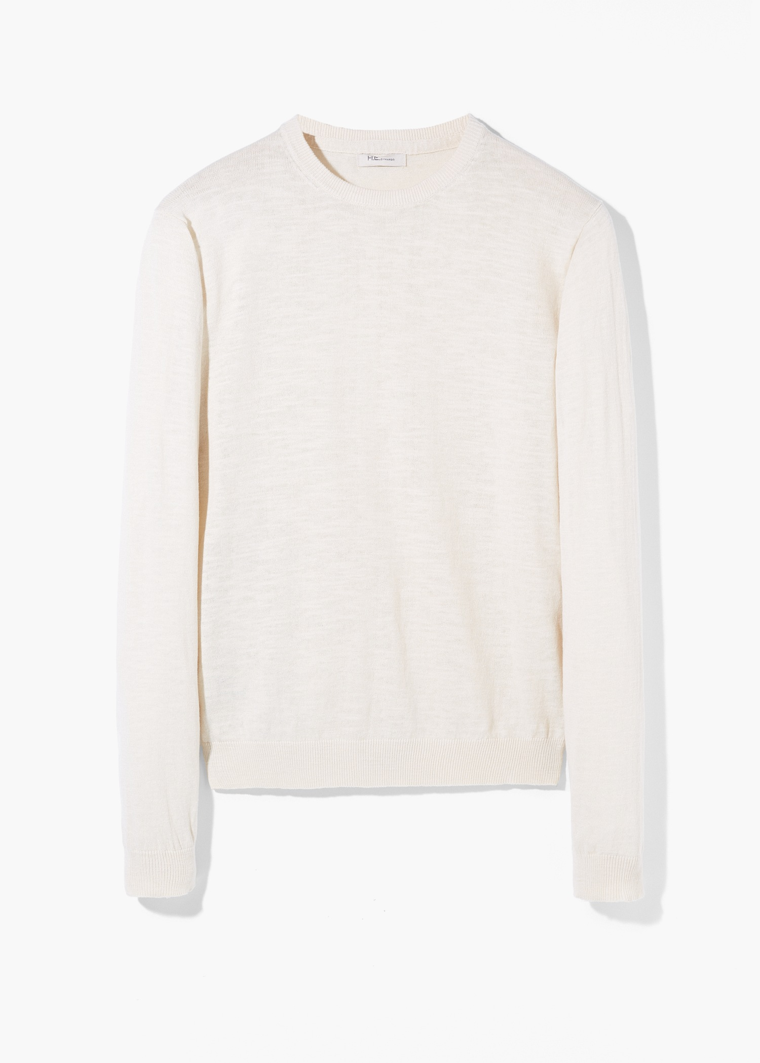 Mango Fine-Knit Cotton Sweater in Natural for Men | Lyst