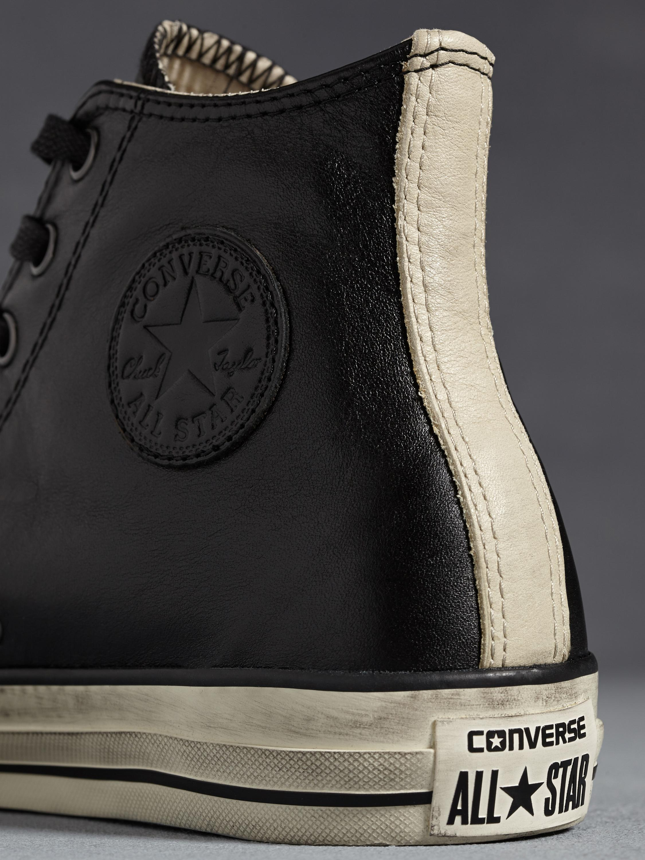 b692570dd0dc35 ... shop lyst john varvatos all star burnished leather chuck taylor in  21385 2ab1f