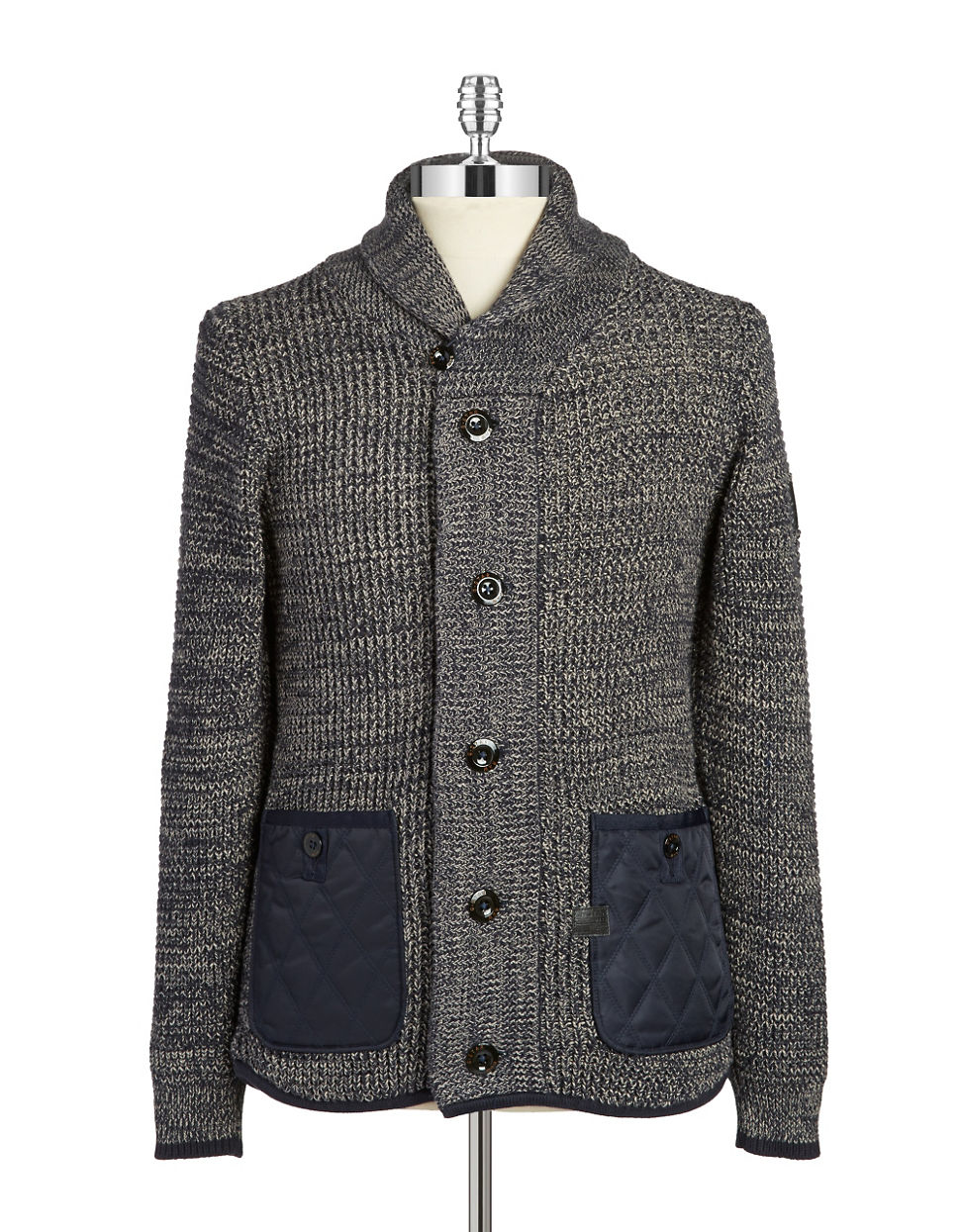 lyst g star raw marled knit sweater in blue for men. Black Bedroom Furniture Sets. Home Design Ideas
