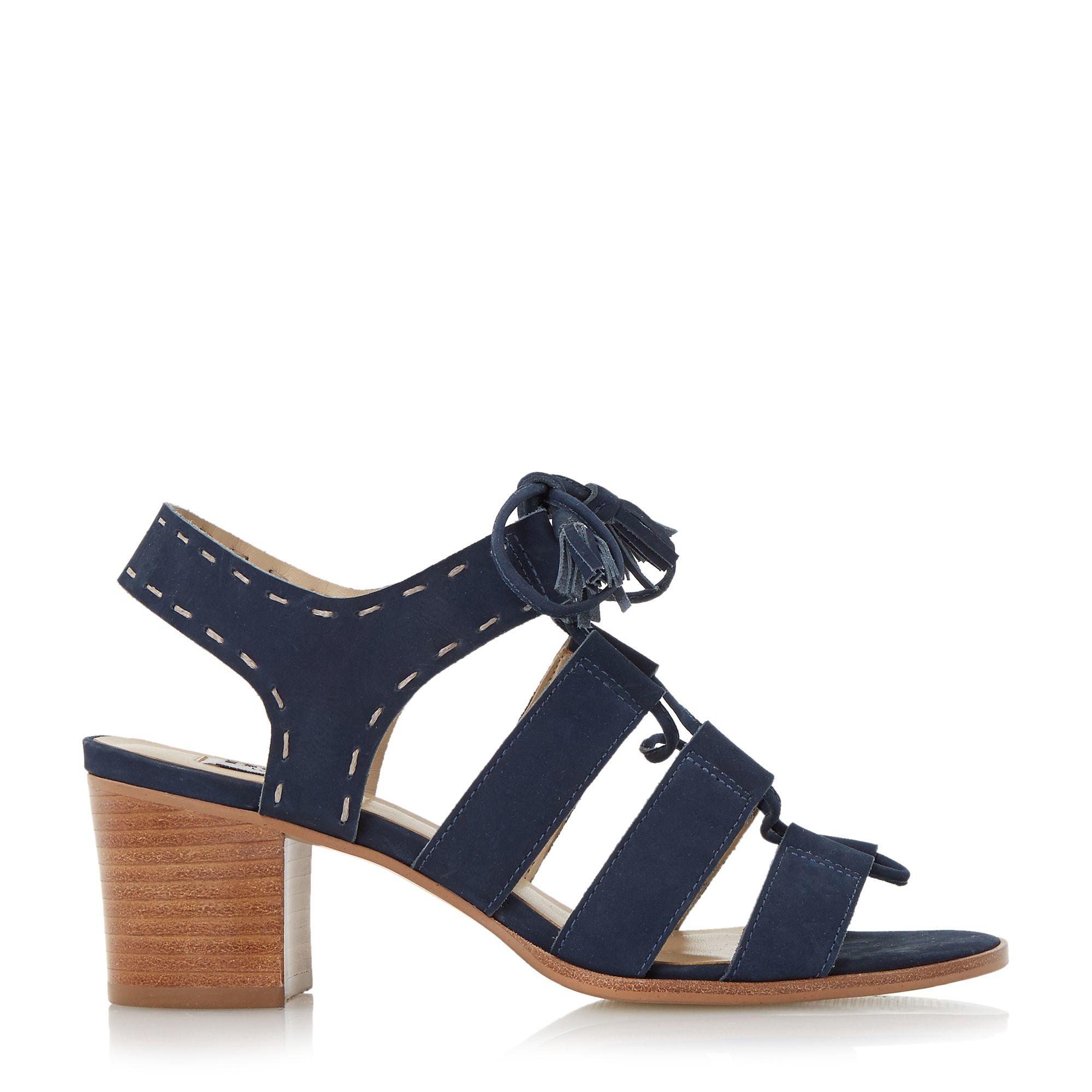 Navy Blue Sandals With Heels - Is Heel