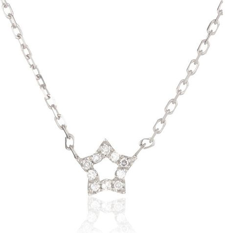 Adina reyter super tiny pave star necklace in silver sterling silver