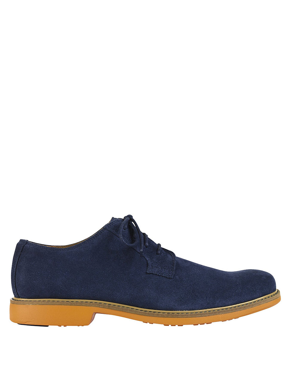 cole haan great jones suede plain toe oxfords in blue for