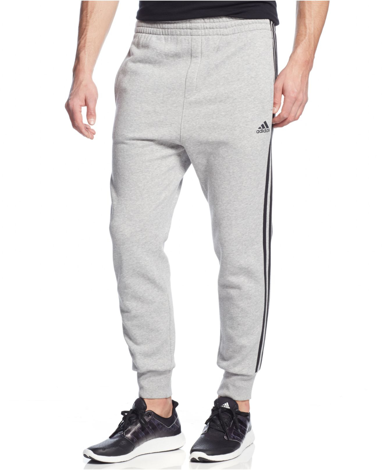 91129947a adidas Striped Slim-fit Sweatpants in Blue for Men - Lyst