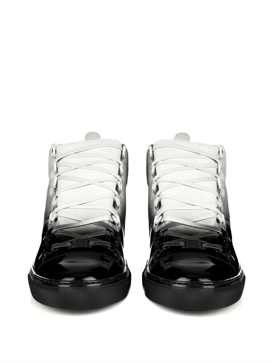 207d7d4bd837b Lyst - Balenciaga Arena Ombré-Effect High-Top Trainers in Black for Men
