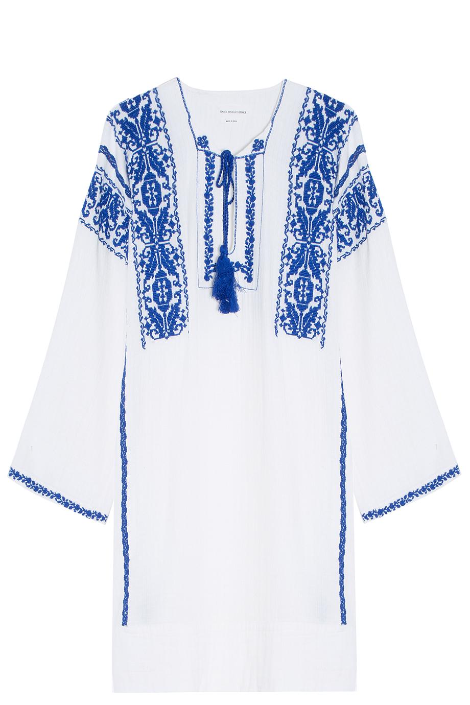 4e91fe4995bf08 Étoile Isabel Marant Vinny Embroidered Cotton-Blend Mini Dress in ...