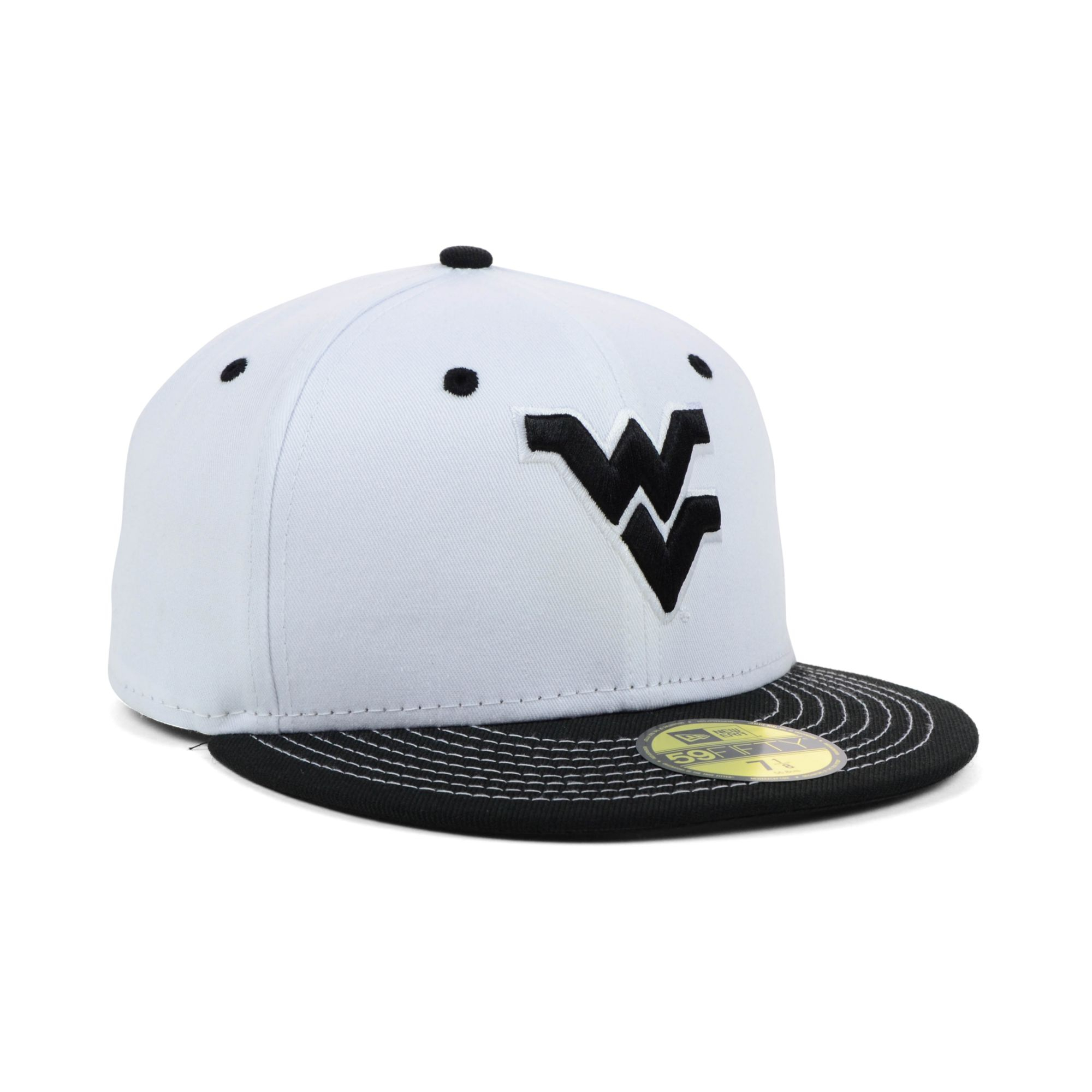 uk availability 52c07 0da70 ... amazon lyst ktz west virginia mountaineers ncaa white black 59fifty cap  11075 28a42