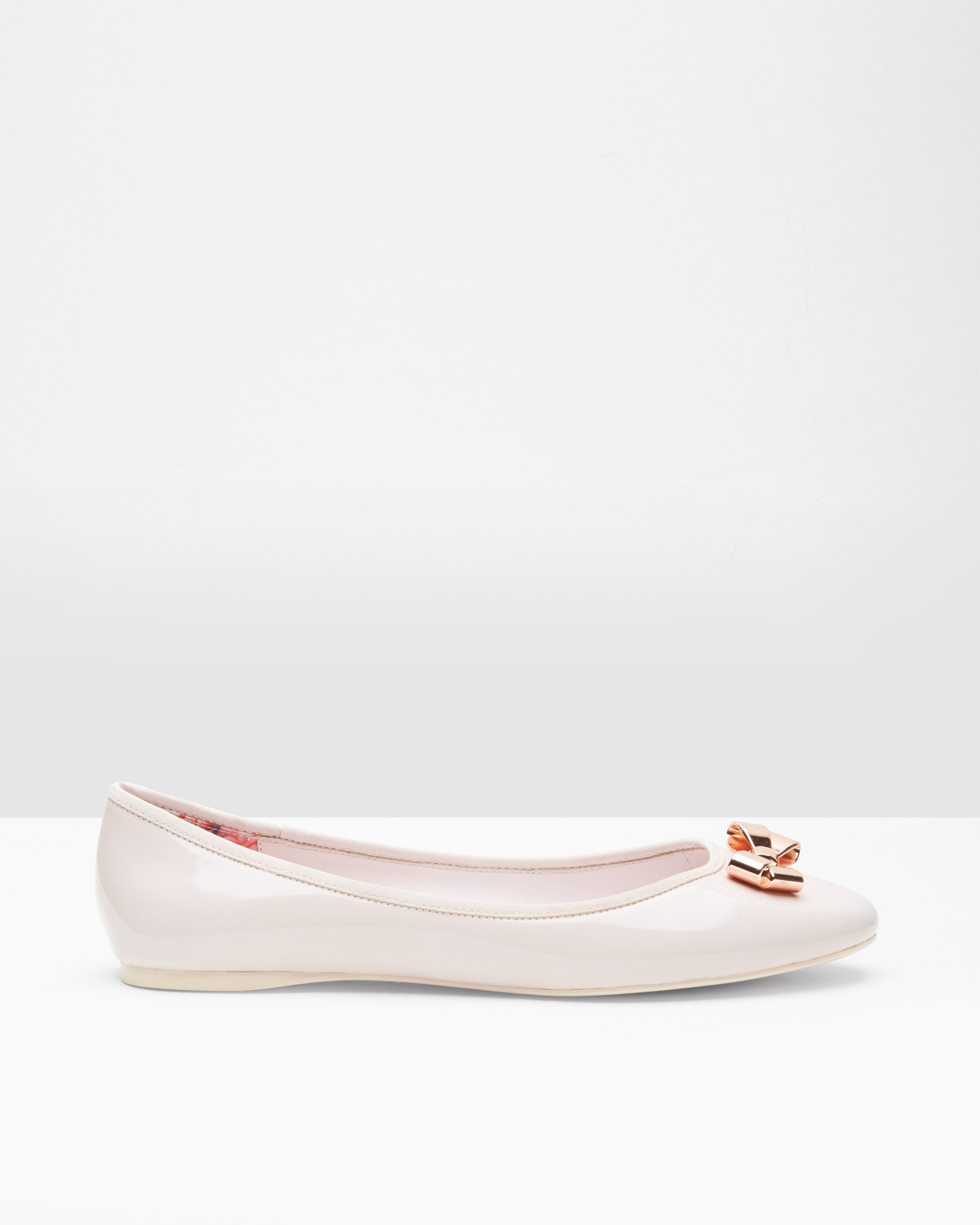 576949318a54e1 Ted Baker Bow Detail Ballerina Pumps in Pink - Lyst