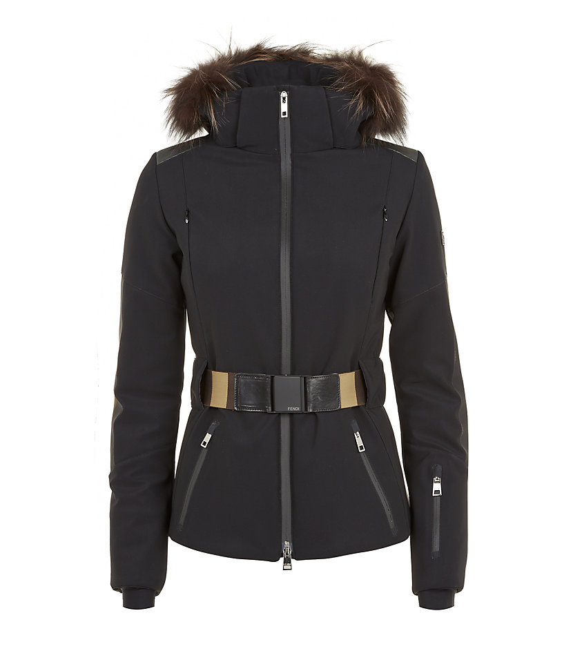 Fendi Pequin Black Ski Jacket With Fur Trim In Black Lyst Interiors Inside Ideas Interiors design about Everything [magnanprojects.com]