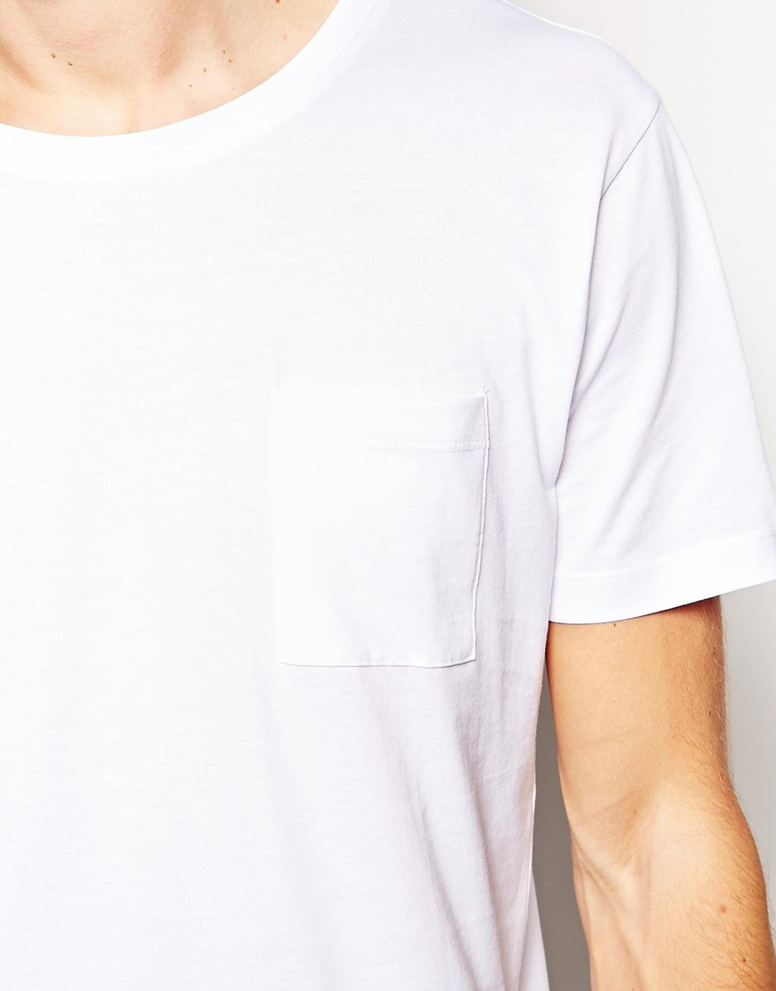 Lyst Selected Selected T Shirt With Pocket In Pima