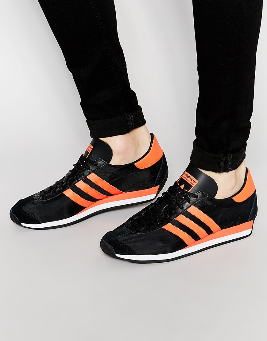superior quality 99a3a 665cd Lyst - adidas Originals Country Og Trainers in Black for Men