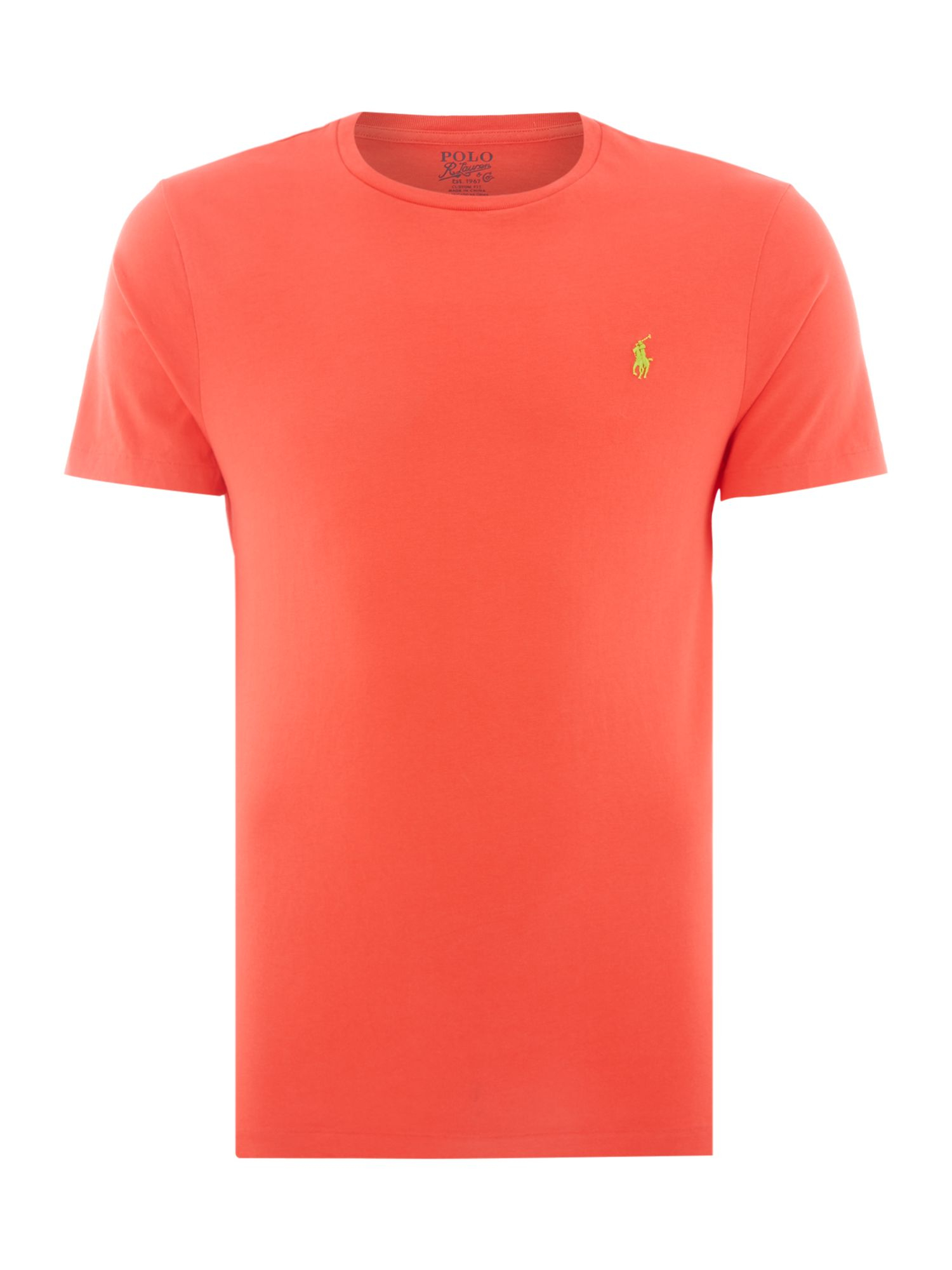 Polo Ralph Lauren Crew Neck Combed Jersey T Shirt In Red