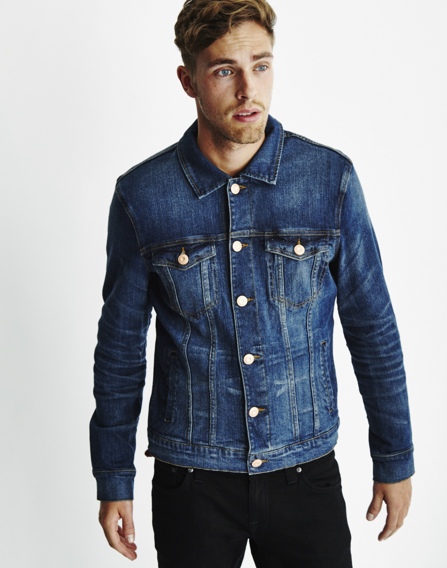 Only & sons Mens Slim Fitted Denim Jacket Blue in Blue for Men | Lyst