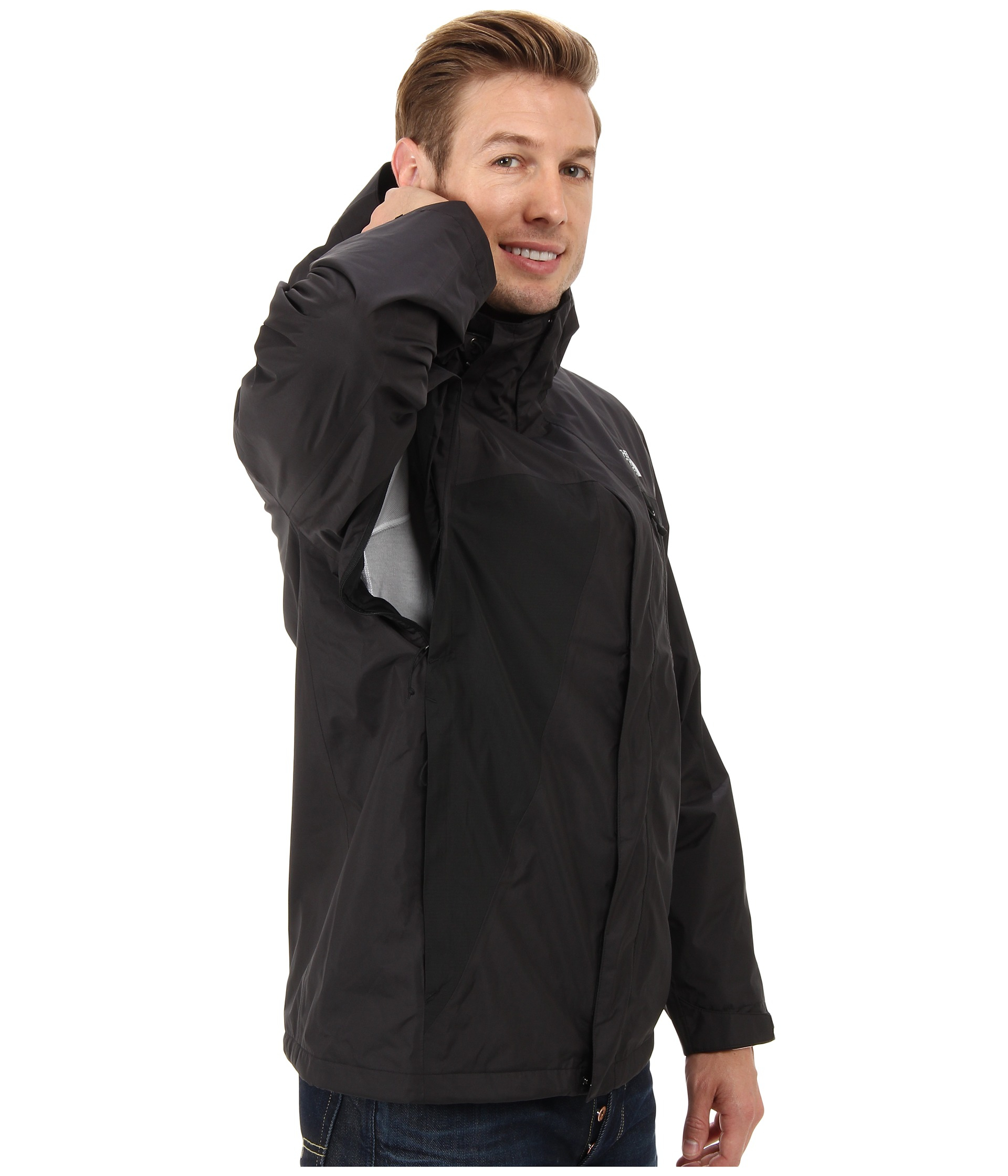 the north face mountain light jacket in black for men tnf black tnf. Black Bedroom Furniture Sets. Home Design Ideas